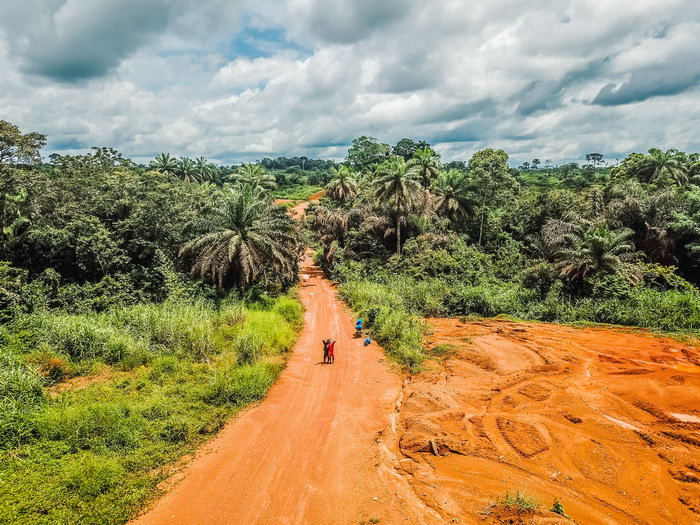 Drone Picture Sierra Leone itself