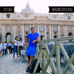 One Man Wolf Pack in Vatican City (First time visited in 2013)