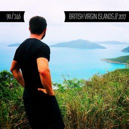 One Man Wolf Pack in British Virgin Islands (First time visited in 2017 | #17 in North America)