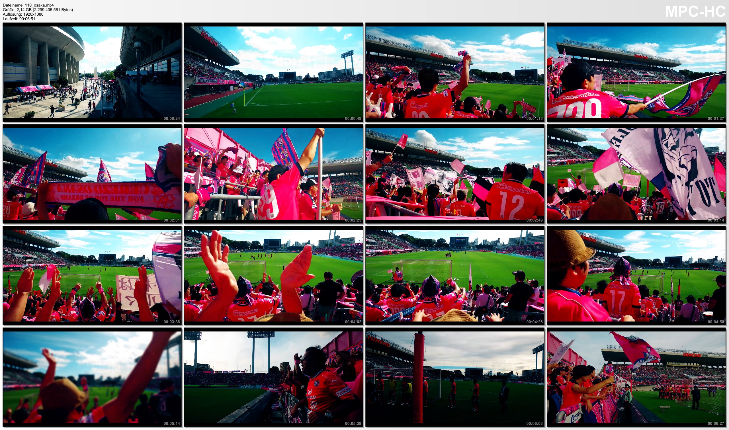 Pictures from Video 【1080p】Groundhopping Footage | CEREZO OSAKA x F.C. GIFU 3x2 ..:: Kincho Stadium Japan 2016