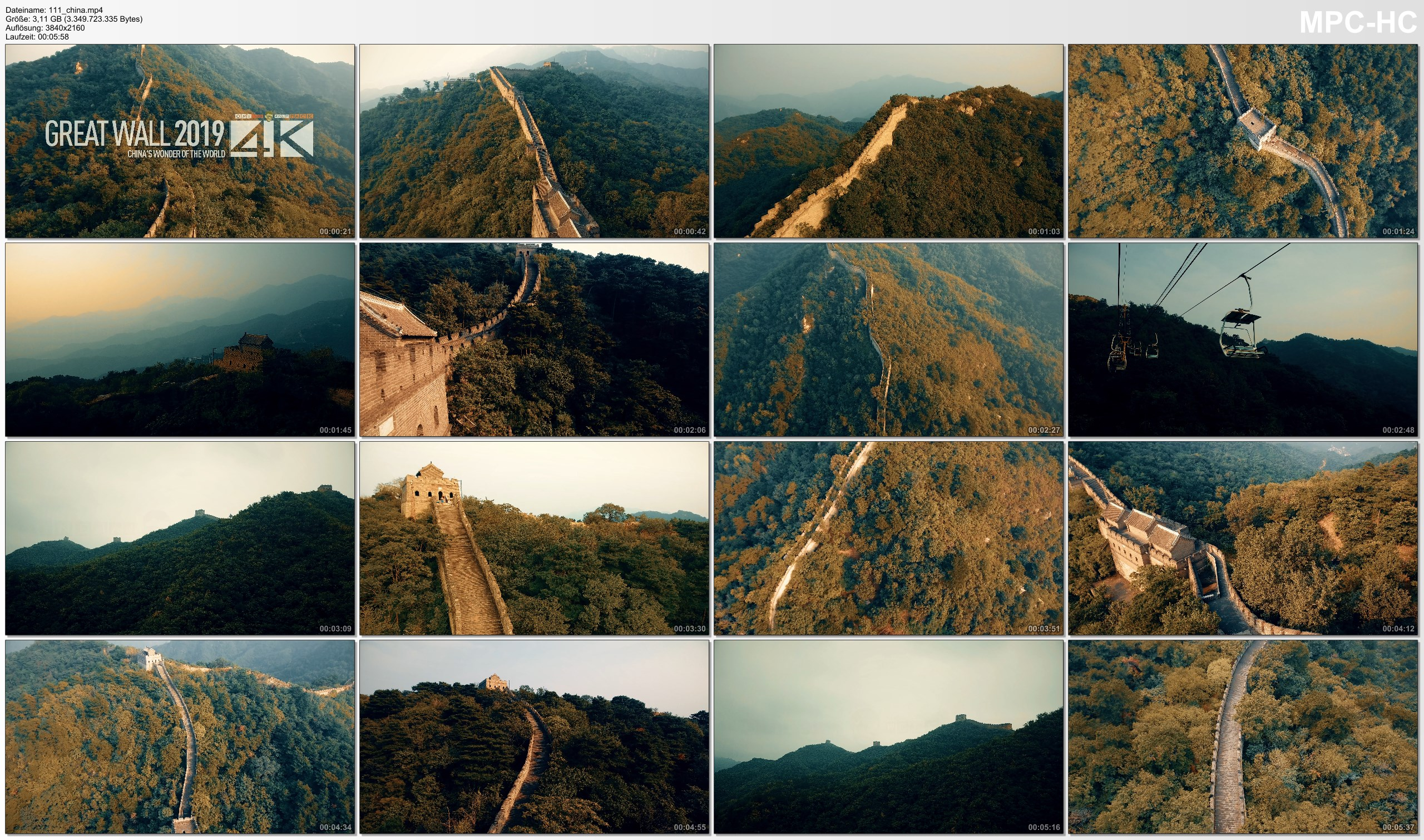 Drone Pictures from Video 【4K】Drone Footage | GREAT WALL 2019 ..:: Chinas Wonder of the World