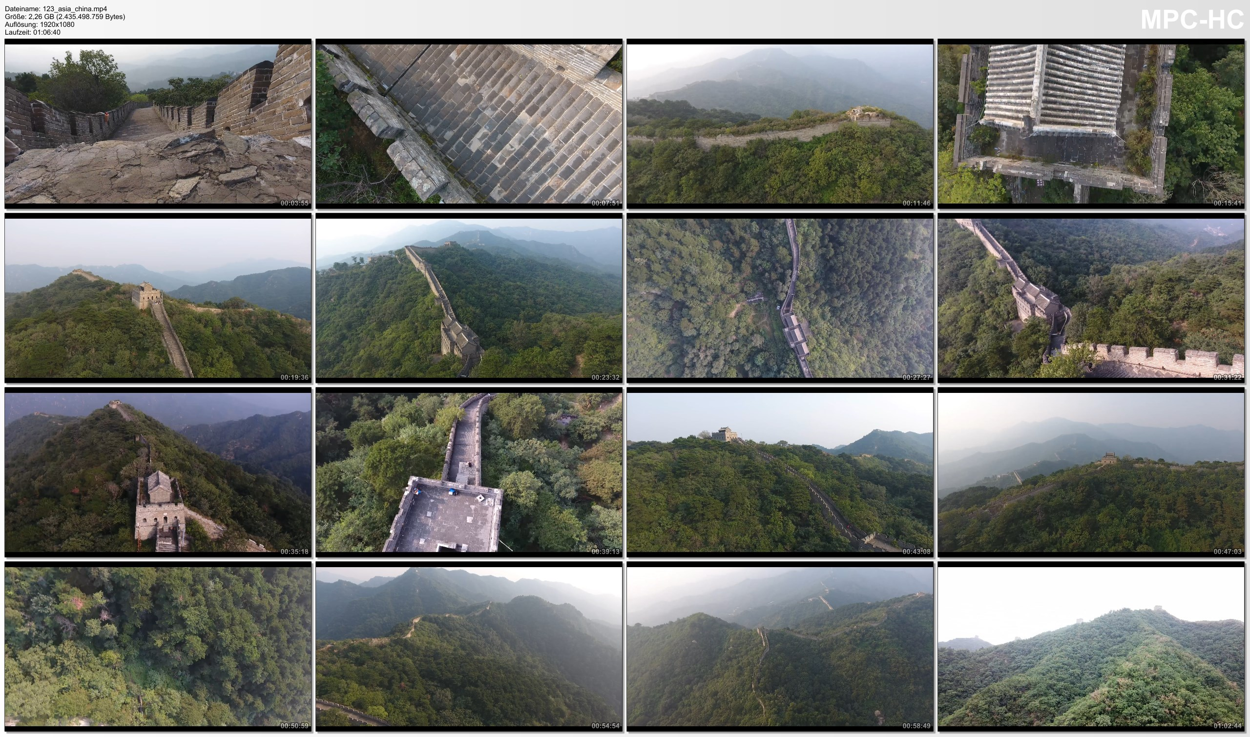 Drone Pictures from Video 【4K】Drone RAW Footage | CHINA 2019 ..:: Great Wall :: Mutianyu :: Jinshanling | UltraHD Stock Video