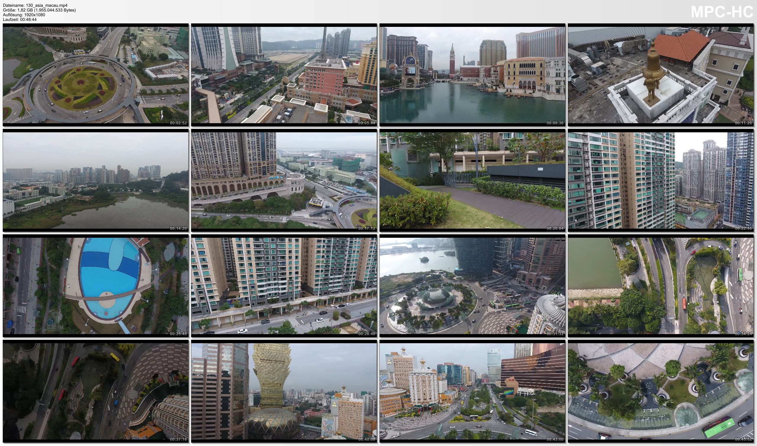 Drone Pictures from Video 【4K】Drone RAW Footage | MACAU 2019 | UltraHD Stock Video