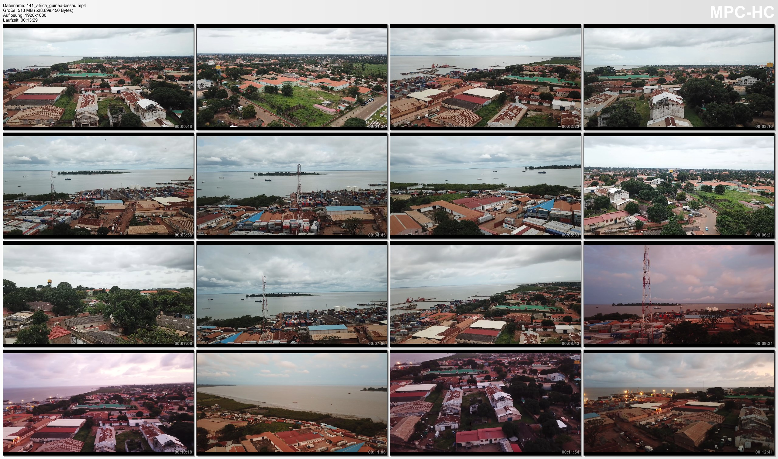 Drone Pictures from Video 【4K】Drone RAW Footage | GUINEA-BISSAU 2019 ..:: Bissau | UltraHD Stock Video