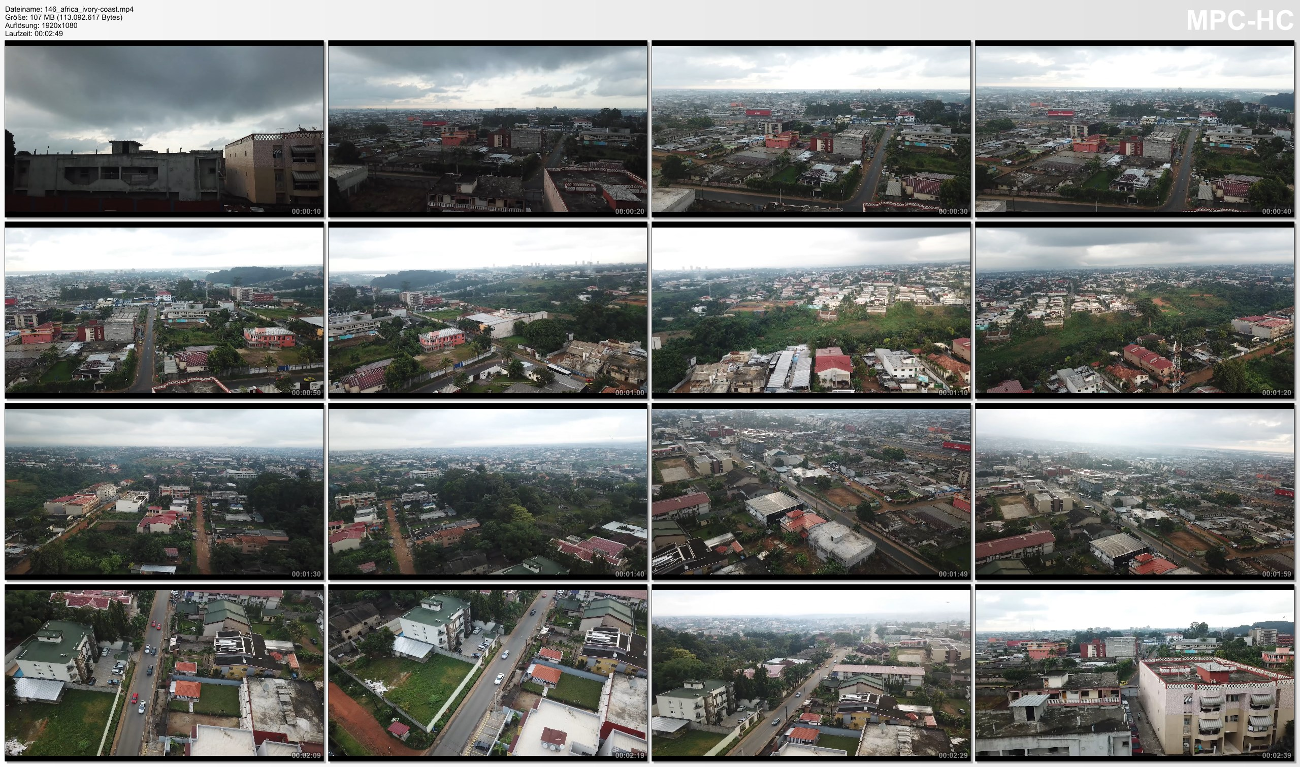 Drone Pictures from Video 【4K】Drone RAW Footage | IVORY COAST 2019 ..:: Abidjan | UltraHD Stock Video