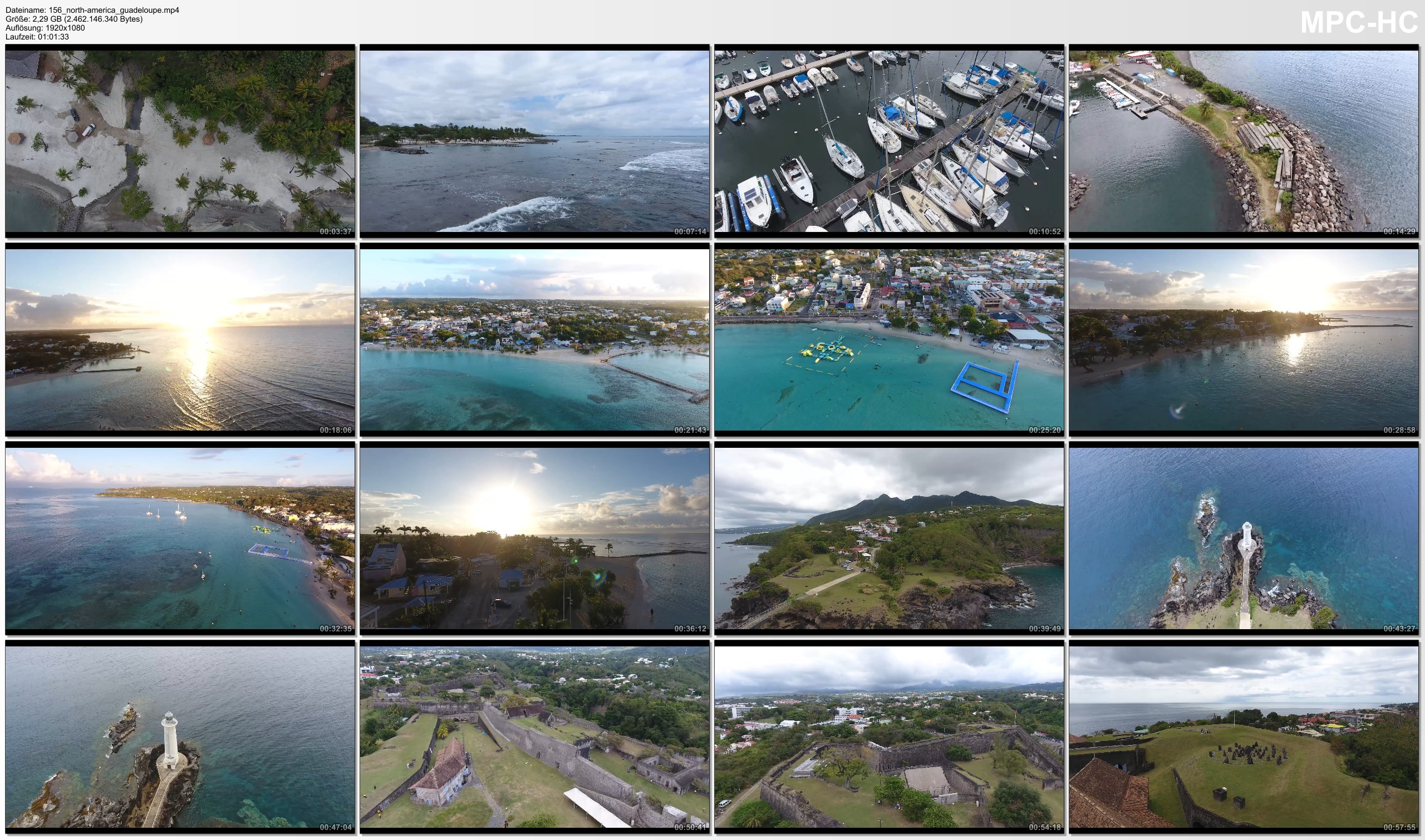 Drone Pictures from Video 【4K】Drone RAW Footage   GUADELOUPE 2019 ..:: Sainte-Anne :: Vieux-Fort   UltraHD Stock Video