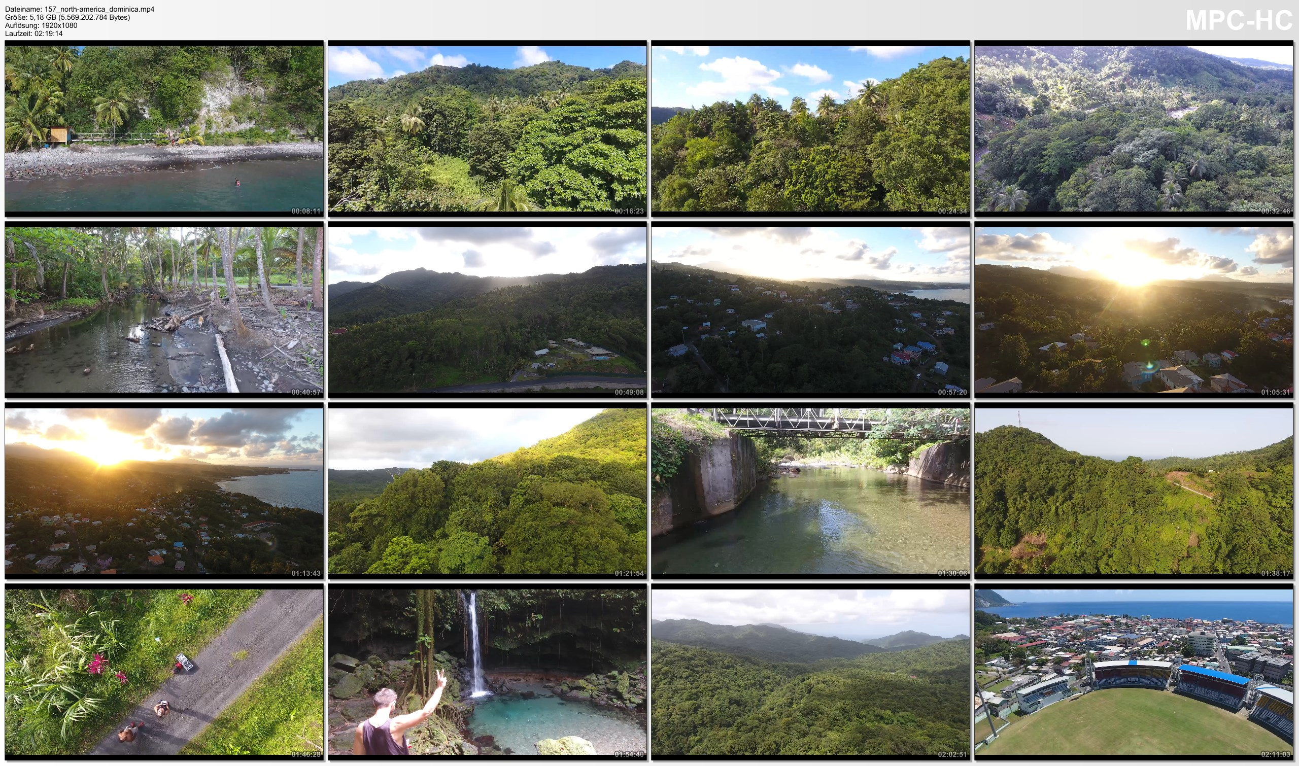 Drone Pictures from Video 【4K】Drone RAW Footage | DOMINICA 2019 ..:: Roseau :: Marigot :: Pont Casse | UltraHD Stock Video