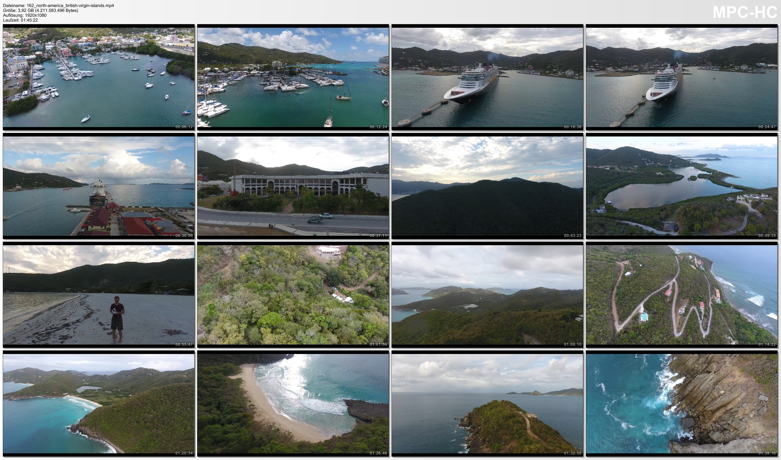 Drone Pictures from Video 【4K】Drone RAW Footage | BRITISH VIRGIN ISLANDS 2019 ..:: Tortola :: Road Town | UltraHD Stock Video