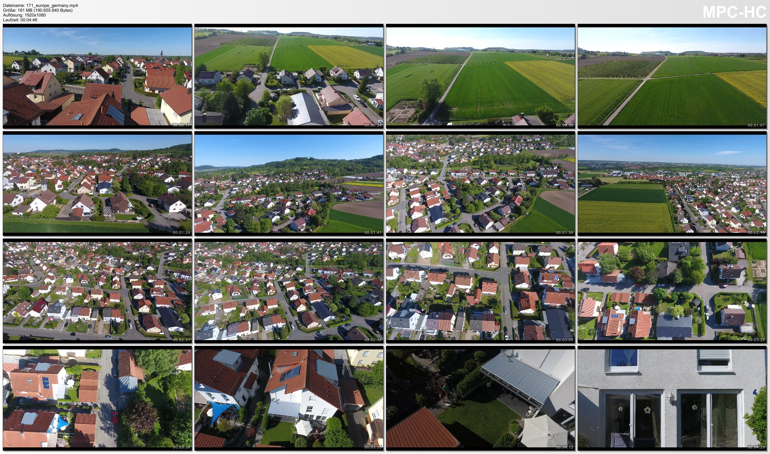 Drone Pictures from Video 【4K】Drone RAW Footage | GERMANY 2019 ..:: Pfedelbach | UltraHD Stock Video