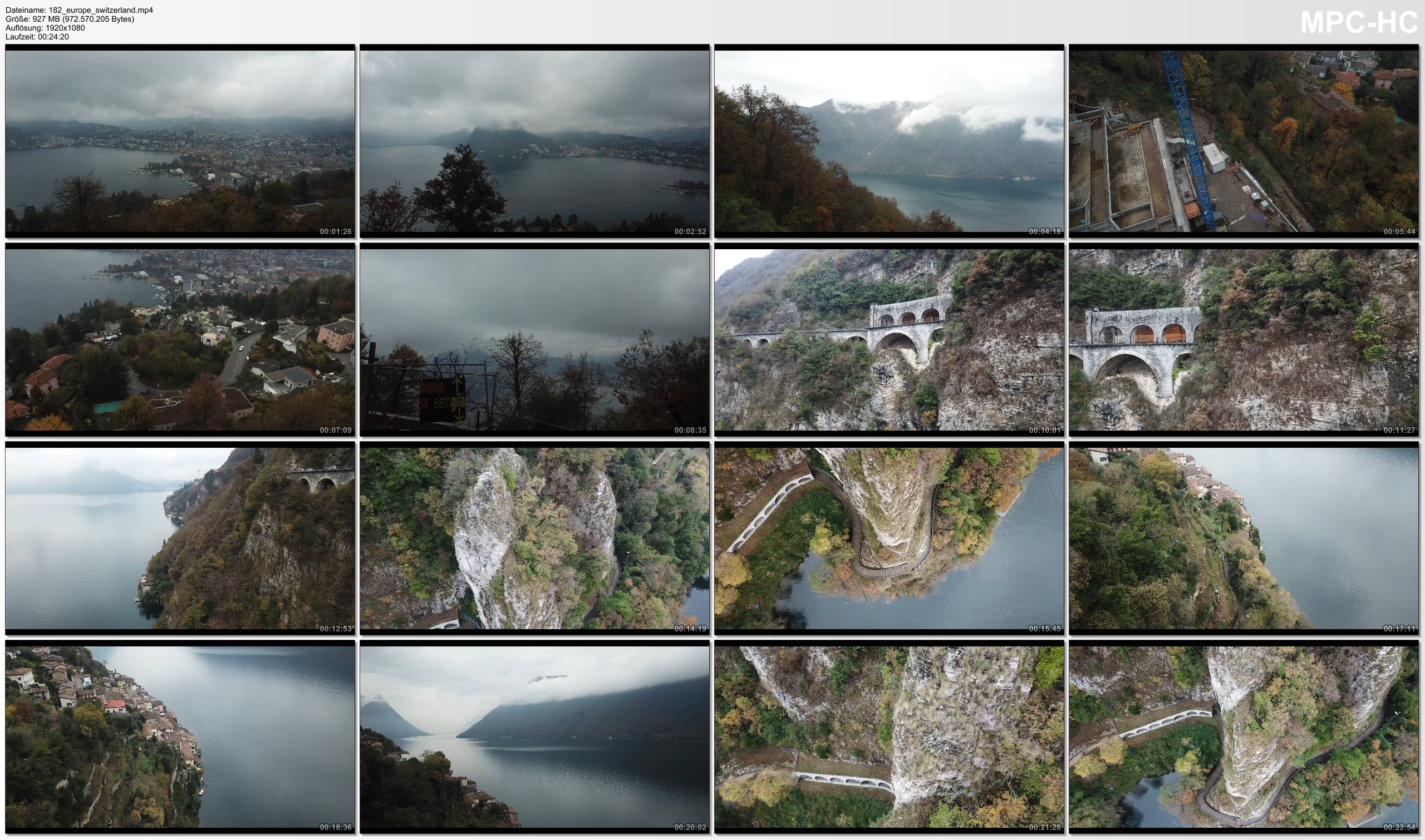 Drone Pictures from Video 【4K】Drone RAW Footage | SWITZERLAND 2019 ..:: Lugano :: Gandria | UltraHD Stock Video