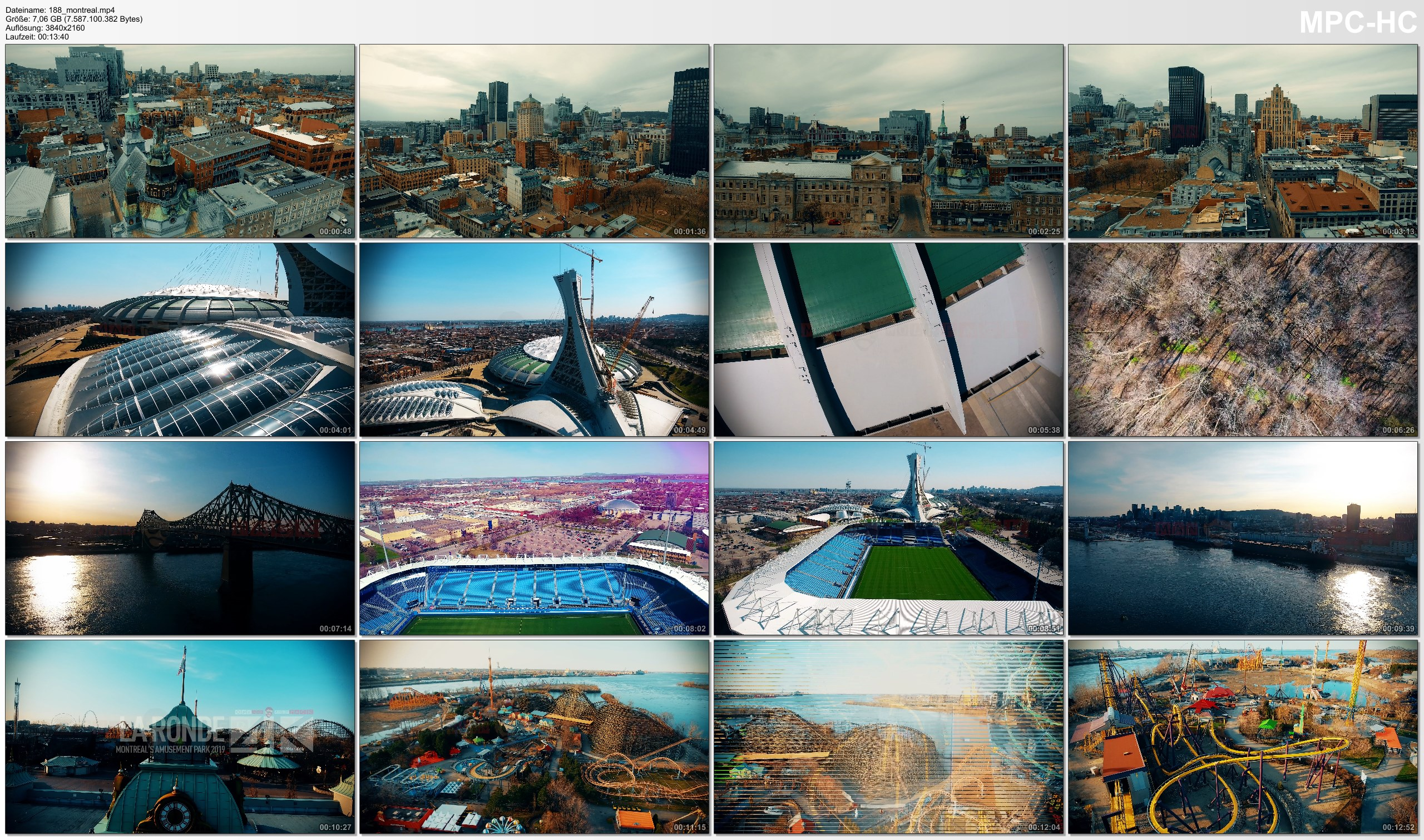 Drone Pictures from Video 【4K】Drone Footage | MONTREAL 2019 ..:: The City of Saints | Downtown · Olympic Park · Stade Saputo