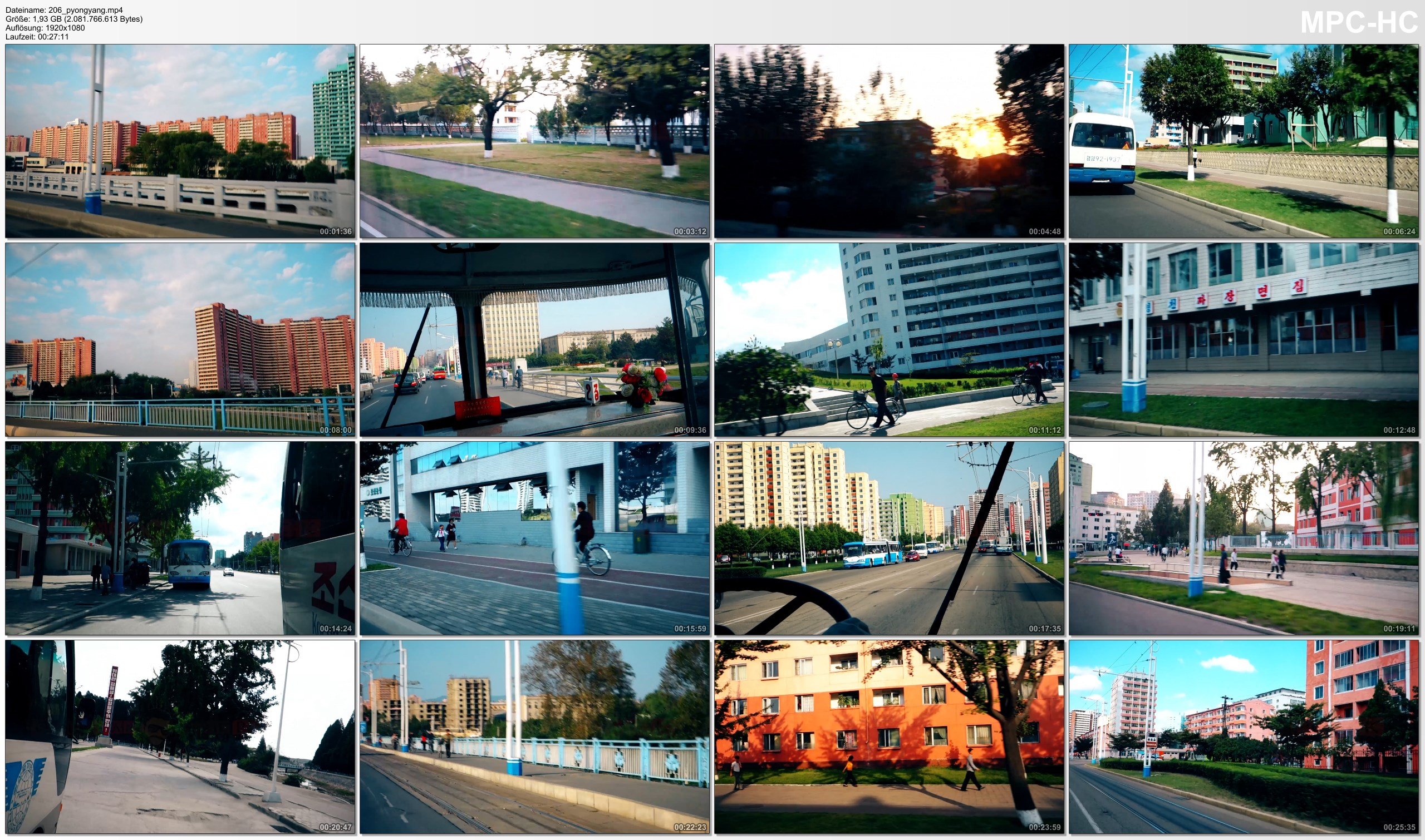 Pictures from Video 【1080p】Footage | Full 27 Minutes BUS TOUR in PYONGYANG (DPRK) 2019 ..:: North Korea *TRAVEL VIDEO*