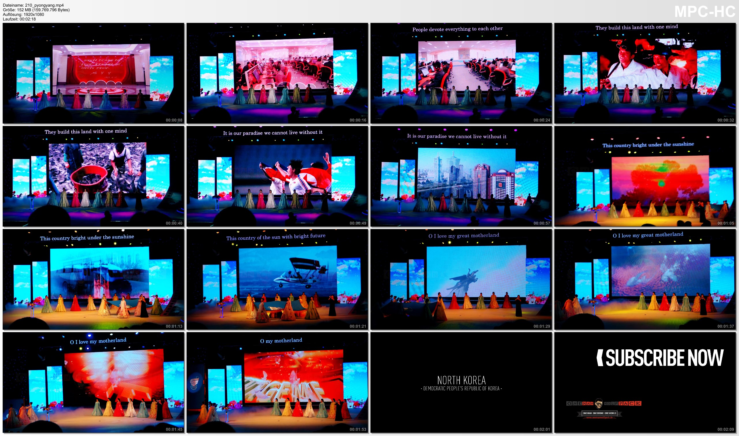 Pictures from Video 【1080p】Footage | Propaganda Video NORTH KOREA (DPRK) 2019 ..:: Performance @Pyongyang *TRAVEL VIDEO*
