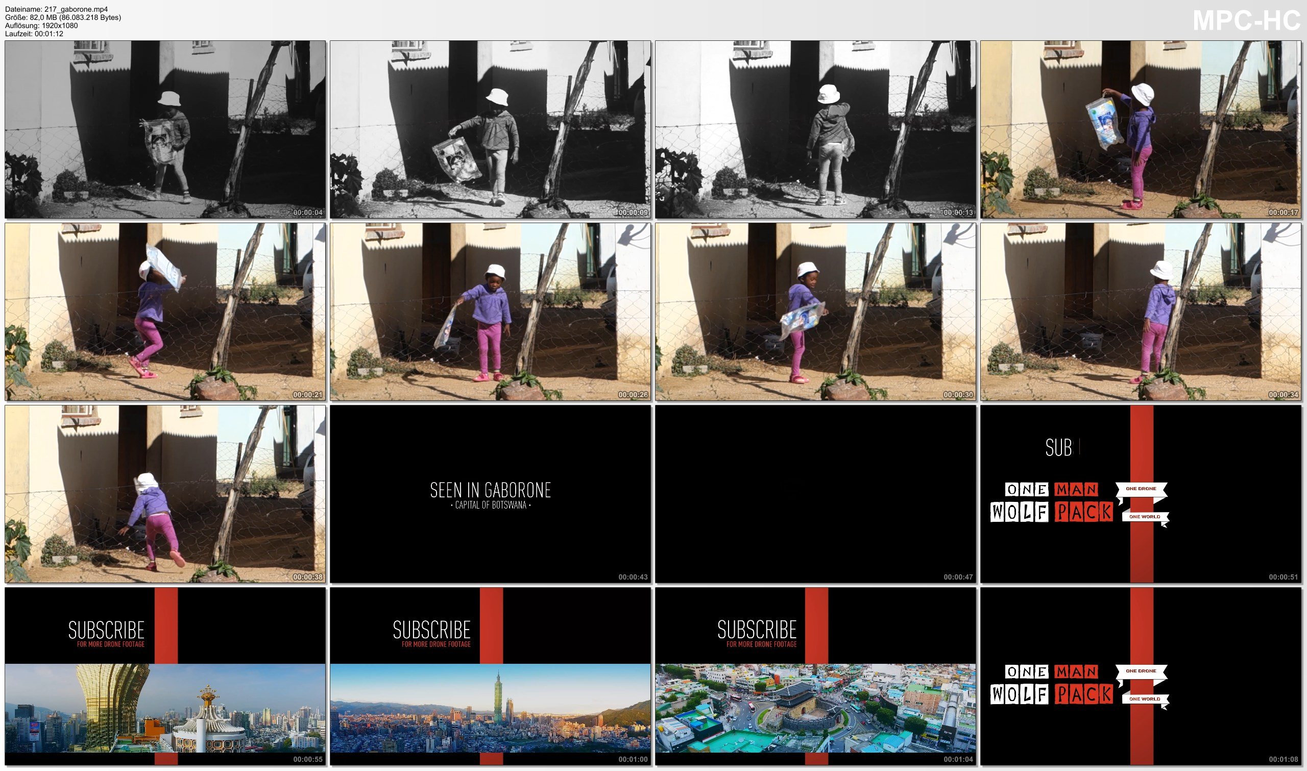 Pictures from Video 【1080p】Footage | Botswana Kid Playing Happily with a Plastic Bag ..: Seen in Gaborone *TRAVEL VIDEO*