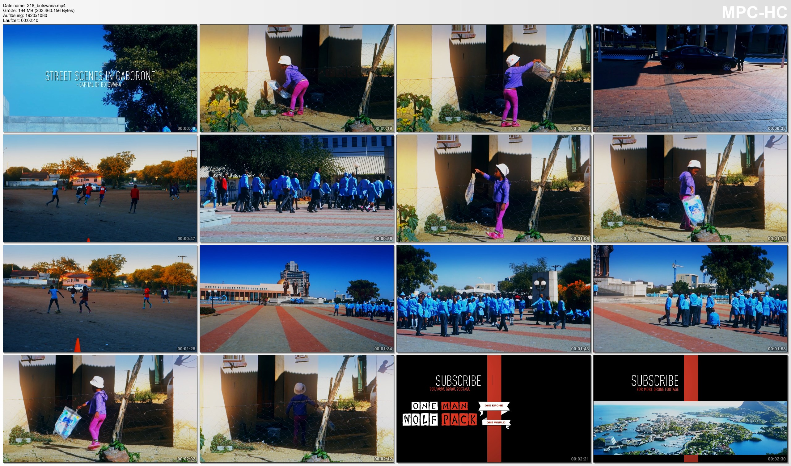 Pictures from Video 【1080p】Footage | BOTSWANA 2019 ..:: Gaborone | Three Dikgosi Monument | Parliament Building *TRAVEL*