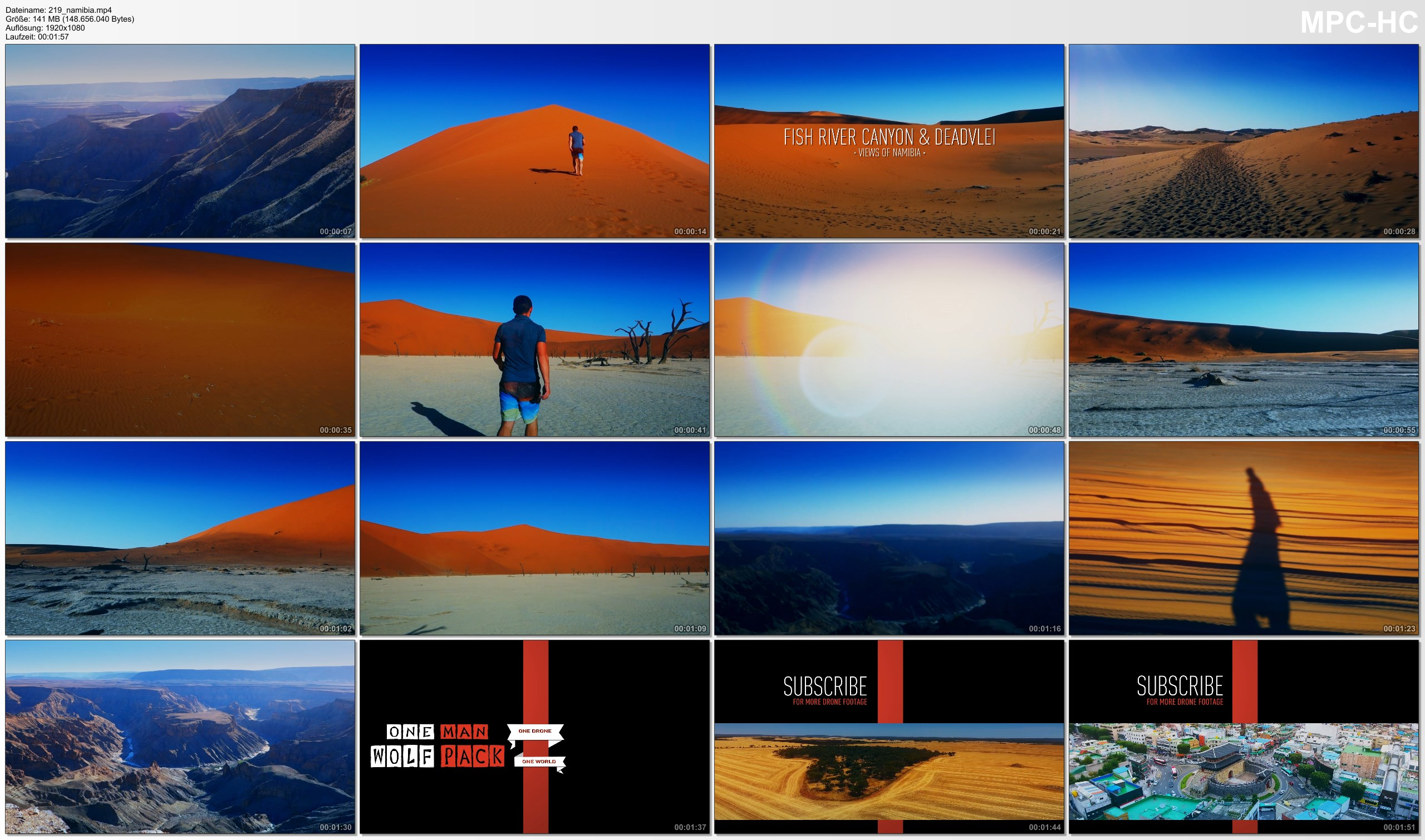 Pictures from Video 【1080p】Footage | Fish River Canyon & Deadvlei 2019 ..:: NAMIBIA | Sossusvlei | Namib Desert *TRAVEL*