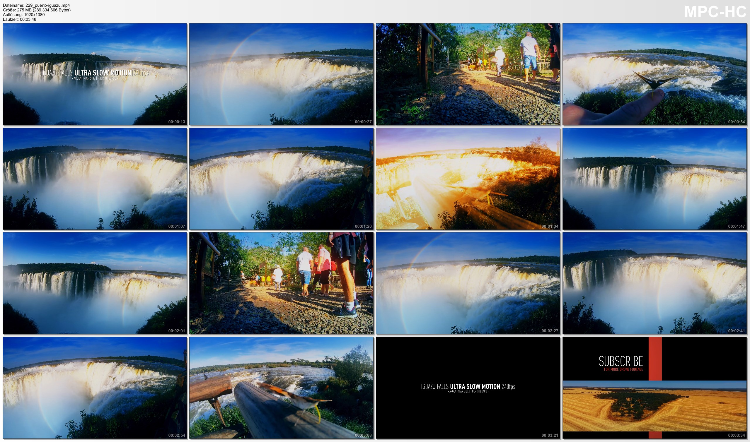 Pictures from Video 【1080p】Footage | Iguazu Falls 2019 ULTRA SLOW MOTION - 240fps ..:: Argentinian Side | Devils Throat