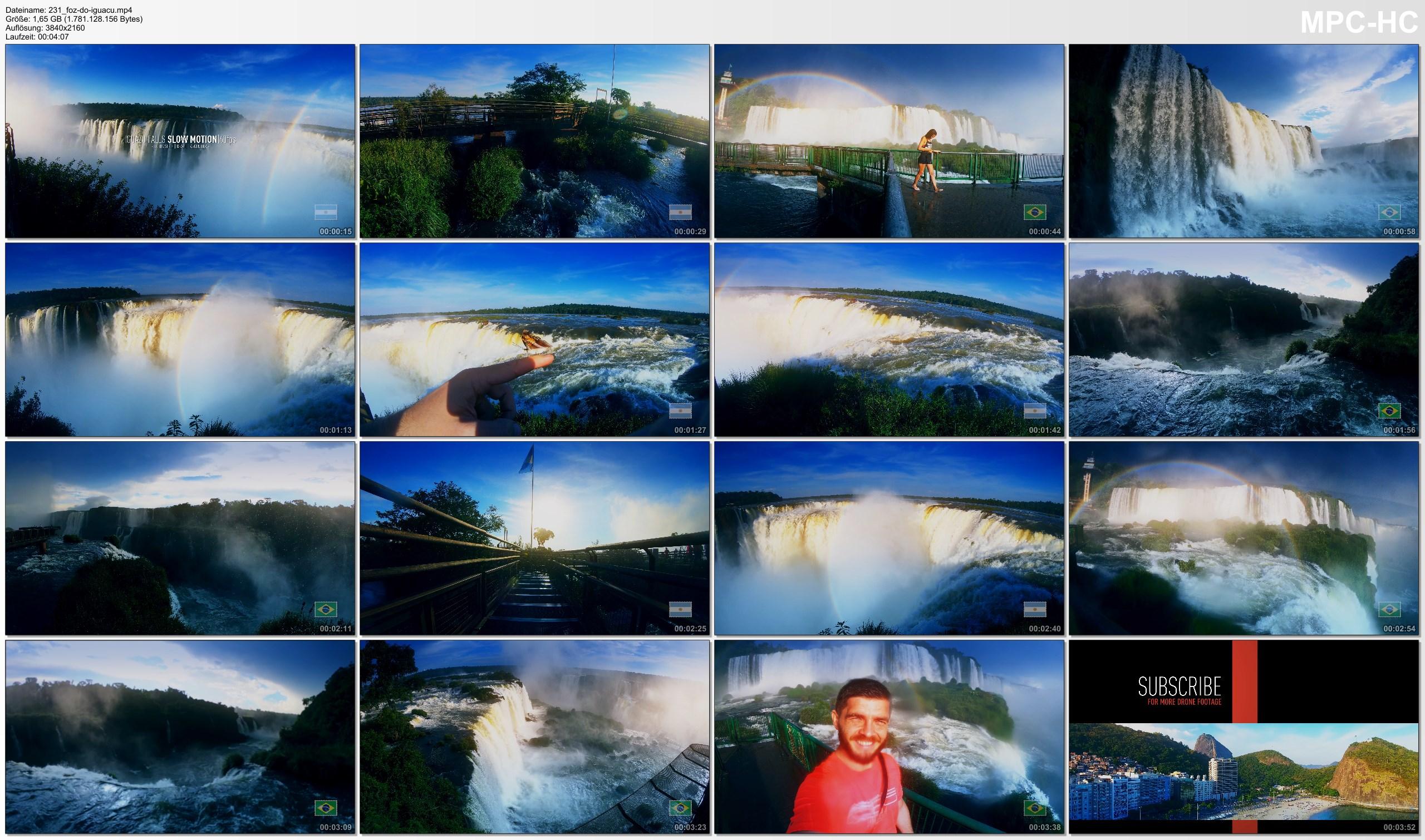 Pictures from Video 【4K】Footage | Iguazu Falls 2019 | Brazil vs. Argentina ..:: Waterfalls Foz do Iguacu | Puerto Iguazu