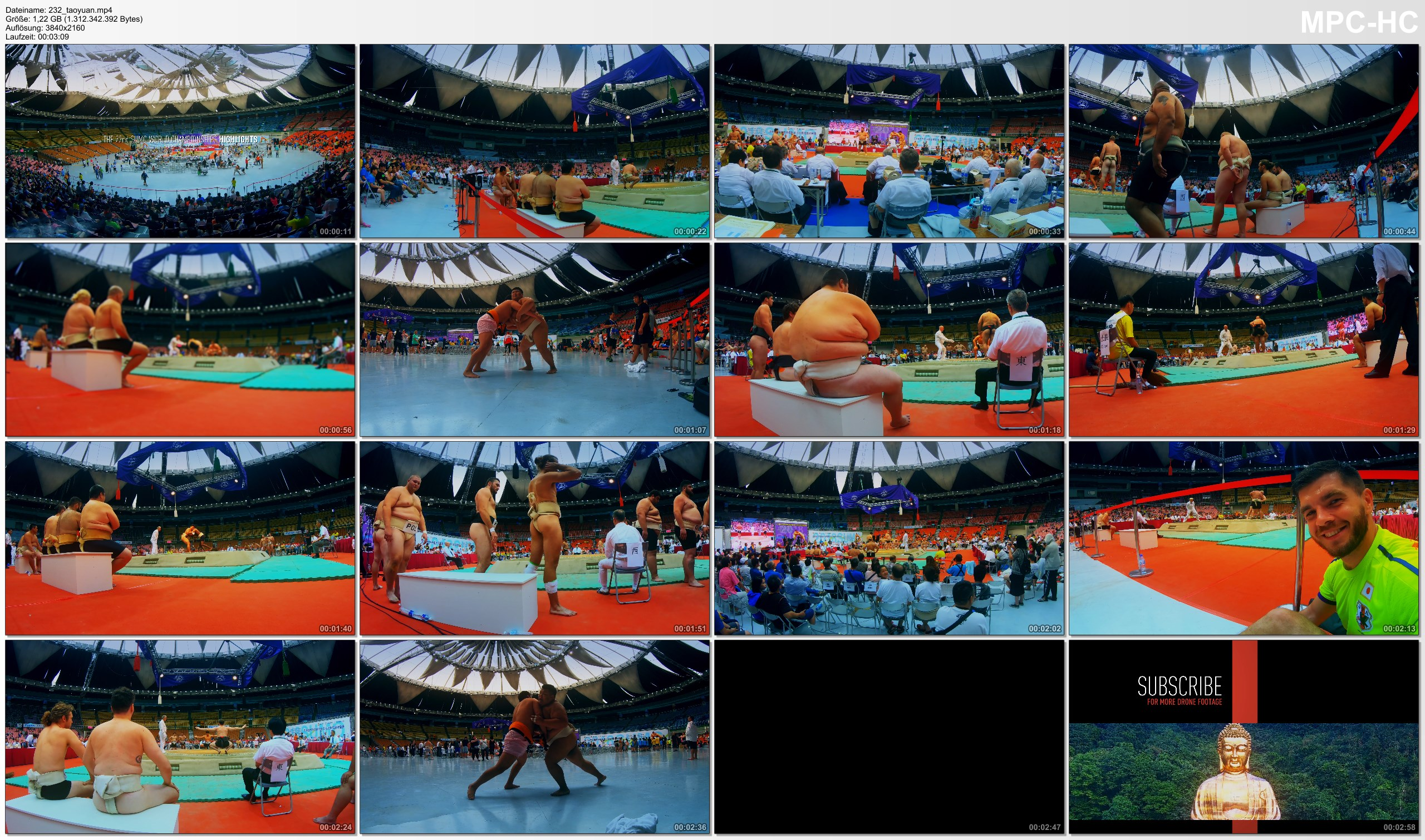 Pictures from Video 【4K】Footage | Sumo World Championships 2018 HIGHLIGHTS ..:: Taoyuan | Taiwan 22nd Ed. *TRAVEL VIDEO*