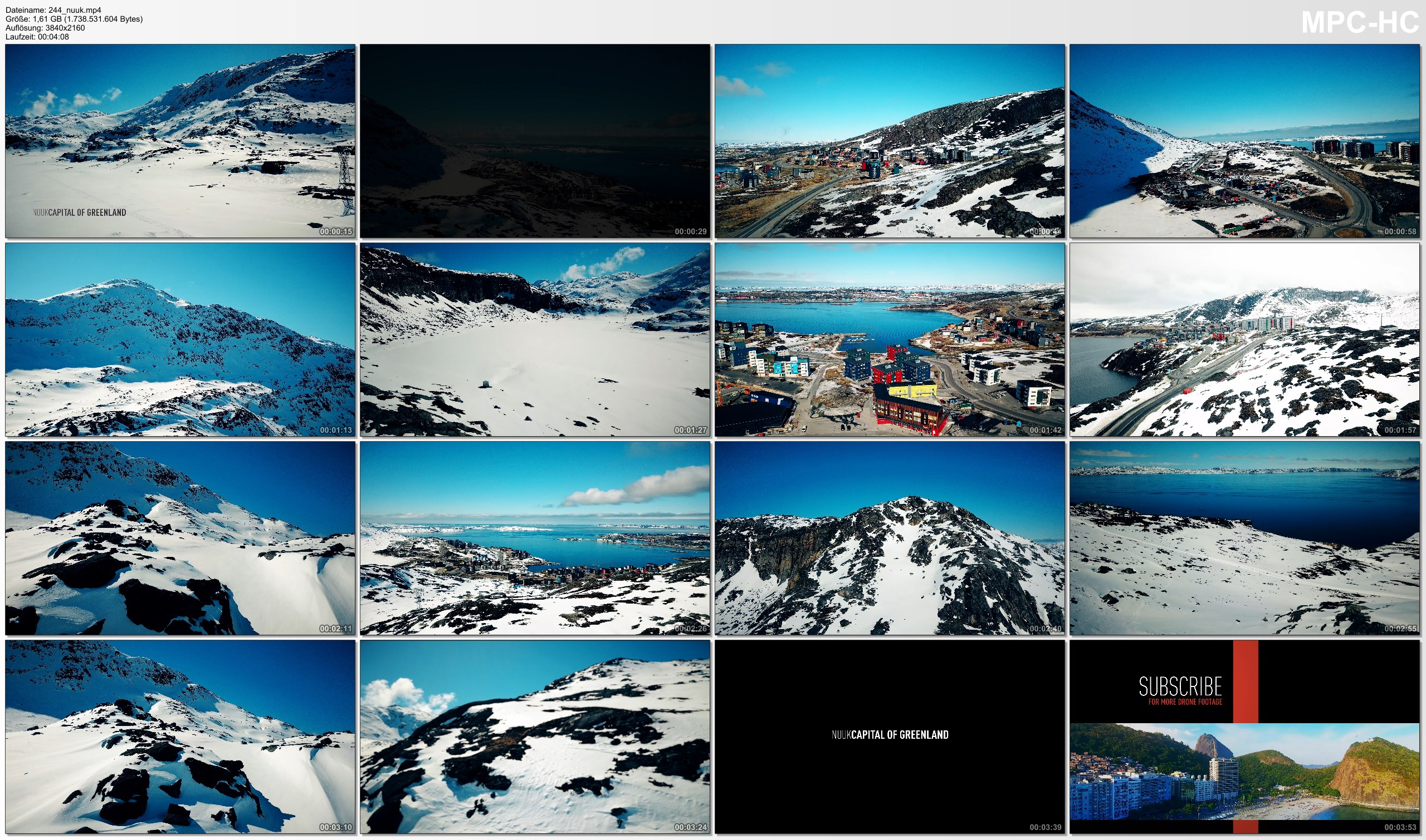 Drone Pictures from Video 【4K】Drone Footage   Nuuk - Capital of GREENLAND 2019 ..:: Birds View   Aerial Video