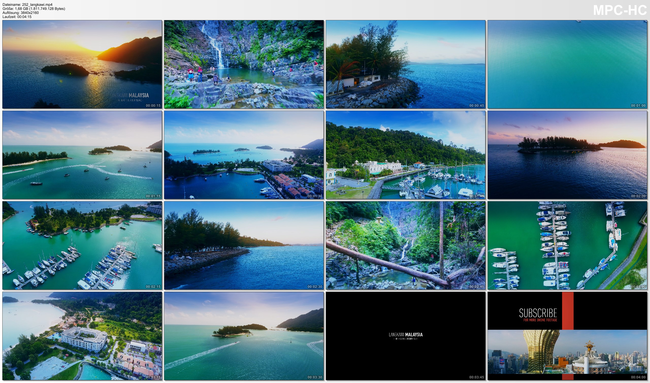 Drone Pictures from Video 【4K】Drone Footage | Langkawi - The Beautiful Archipelago | MALAYSIA 2019 .: Birds View | Aerial Film