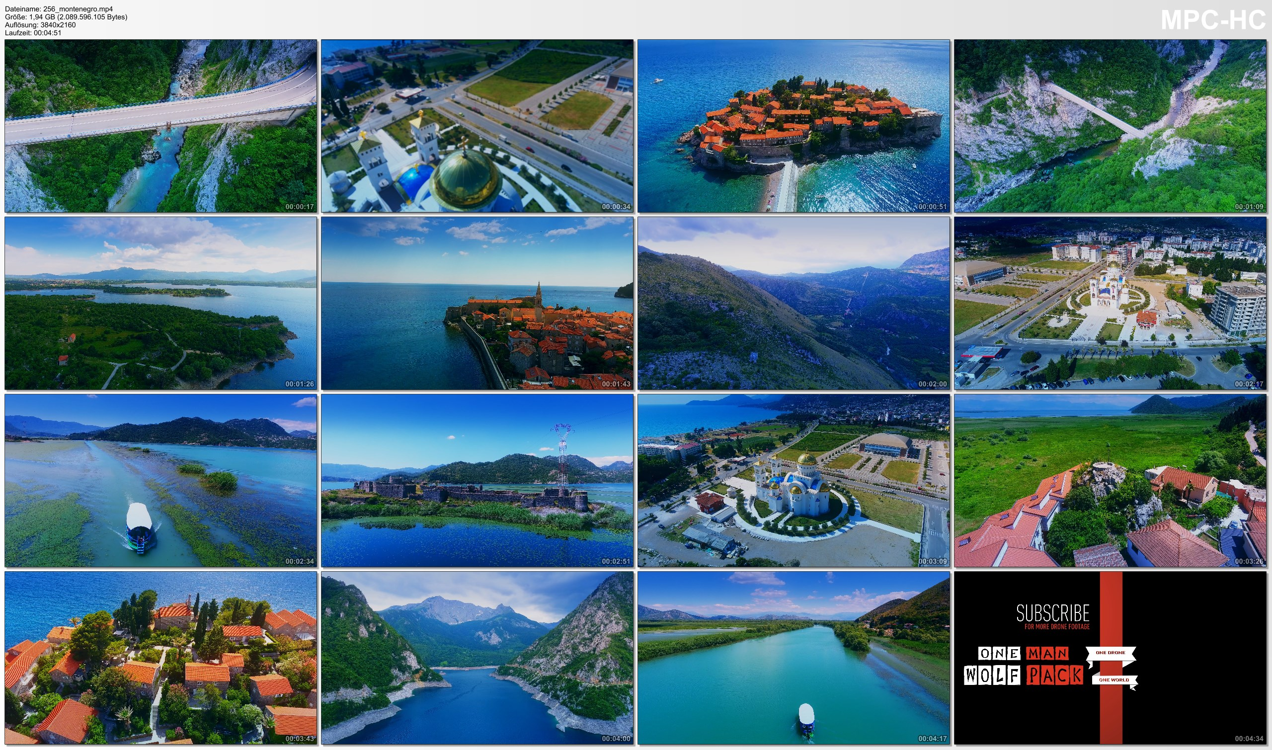 Drone Pictures from Video 【4K】Drone Footage | Marvellous Montenegro ..:: Birds View | Aerial Film