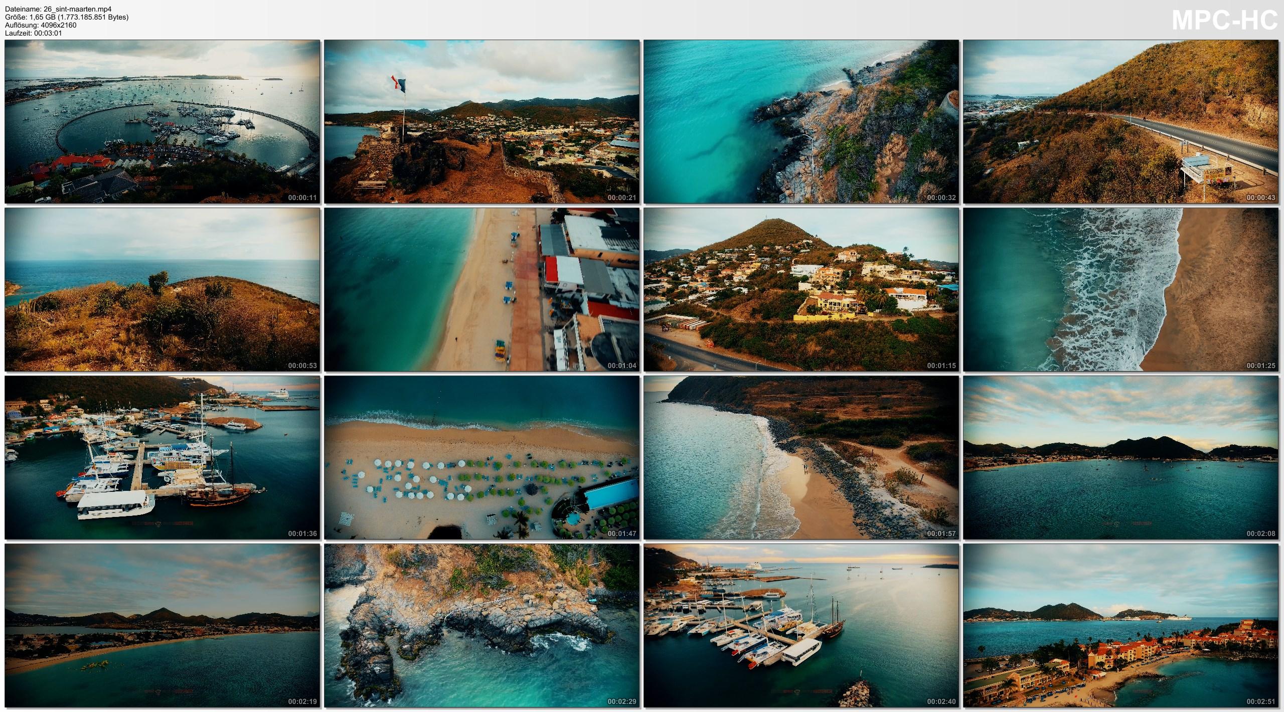Drone Pictures from Video 4K Drone Footage SINT-MAARTEN [DJI Phantom 4]