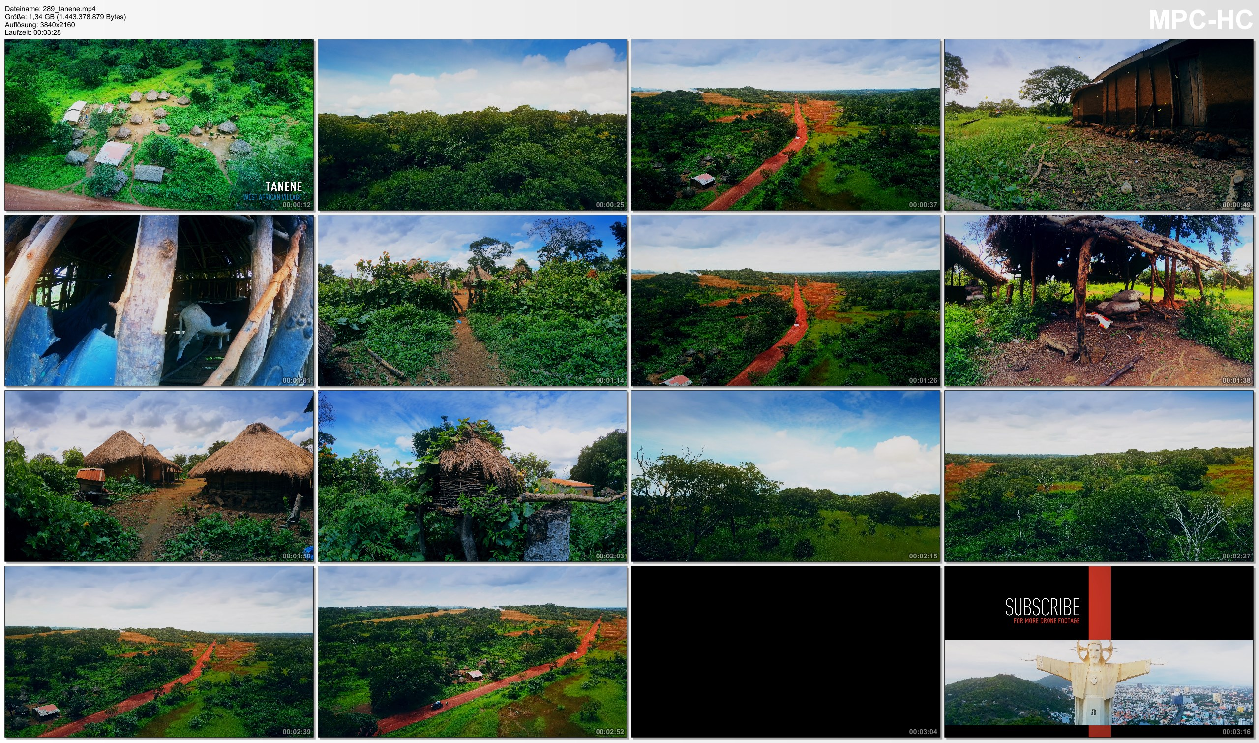Pictures from Video 【4K】Footage | Tanene, Guinea - A traditional Village in West Africa 2019 .: Aerial Drone Birds View