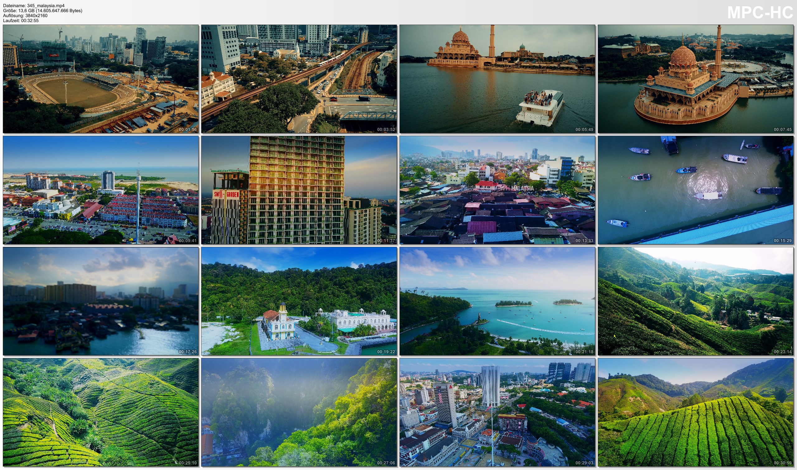 Drone Pictures from Video 【4K】Drone Footage | The Beauty of Malaysia in 33 Minutes 2019 | Cinematic Aerial KL Melaka Penang