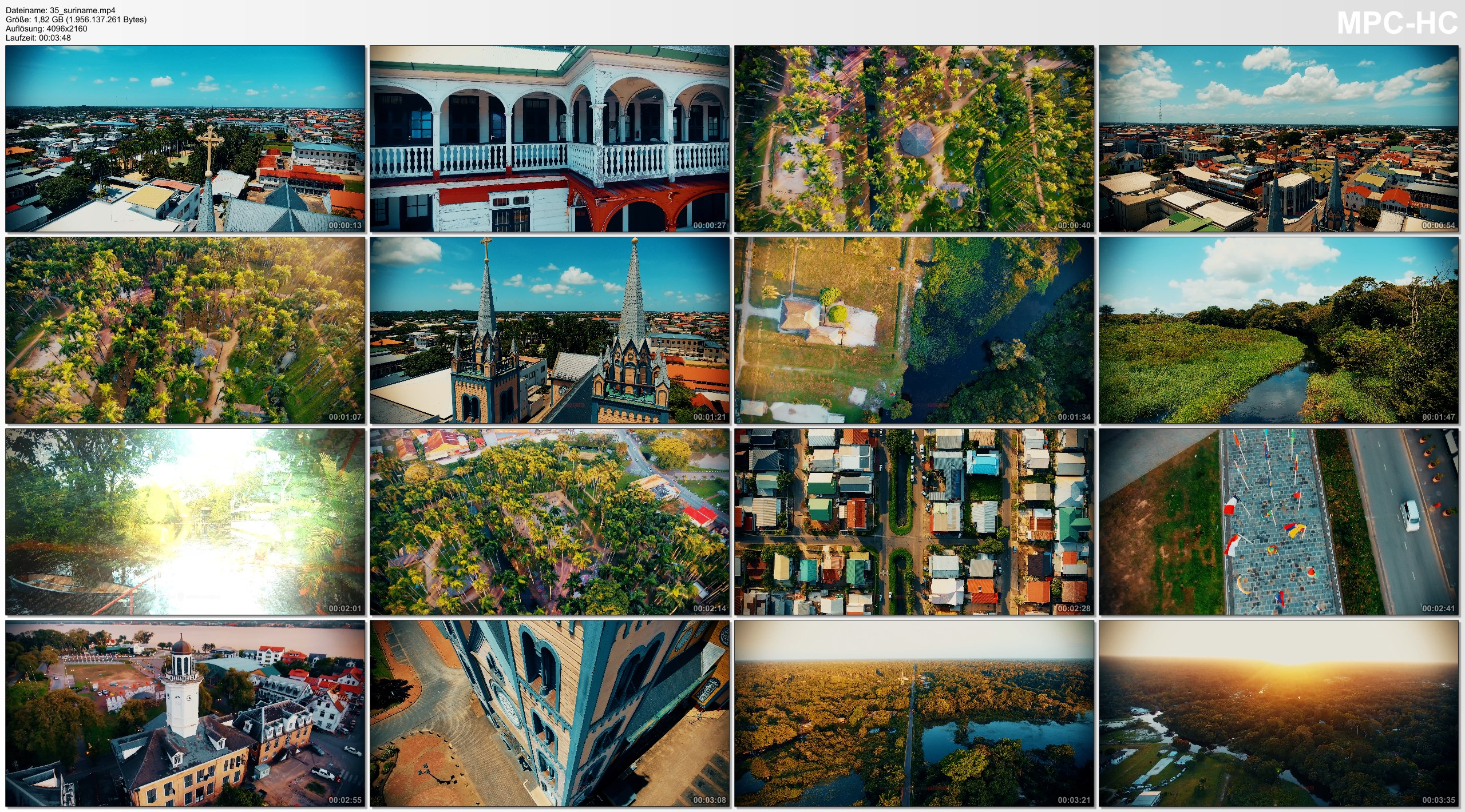 Drone Pictures from Video 4K Drone Footage PARAMARIBO (Suriname) [DJI Phantom 4]