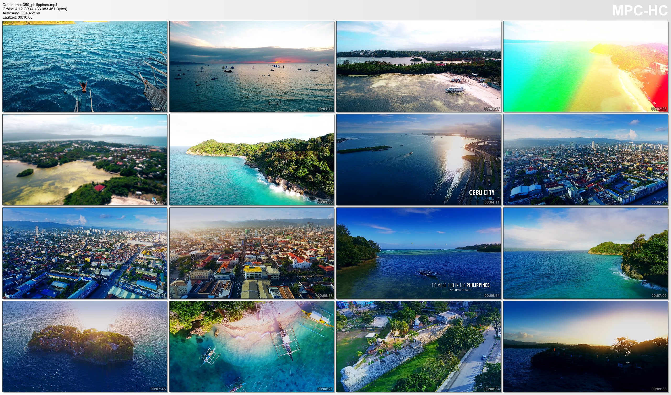 Drone Pictures from Video 【4K】Drone Footage | The Beauty of Philippines in 11 Minutes 2019 | Cinematic Aerial Boracay Cebu KLO