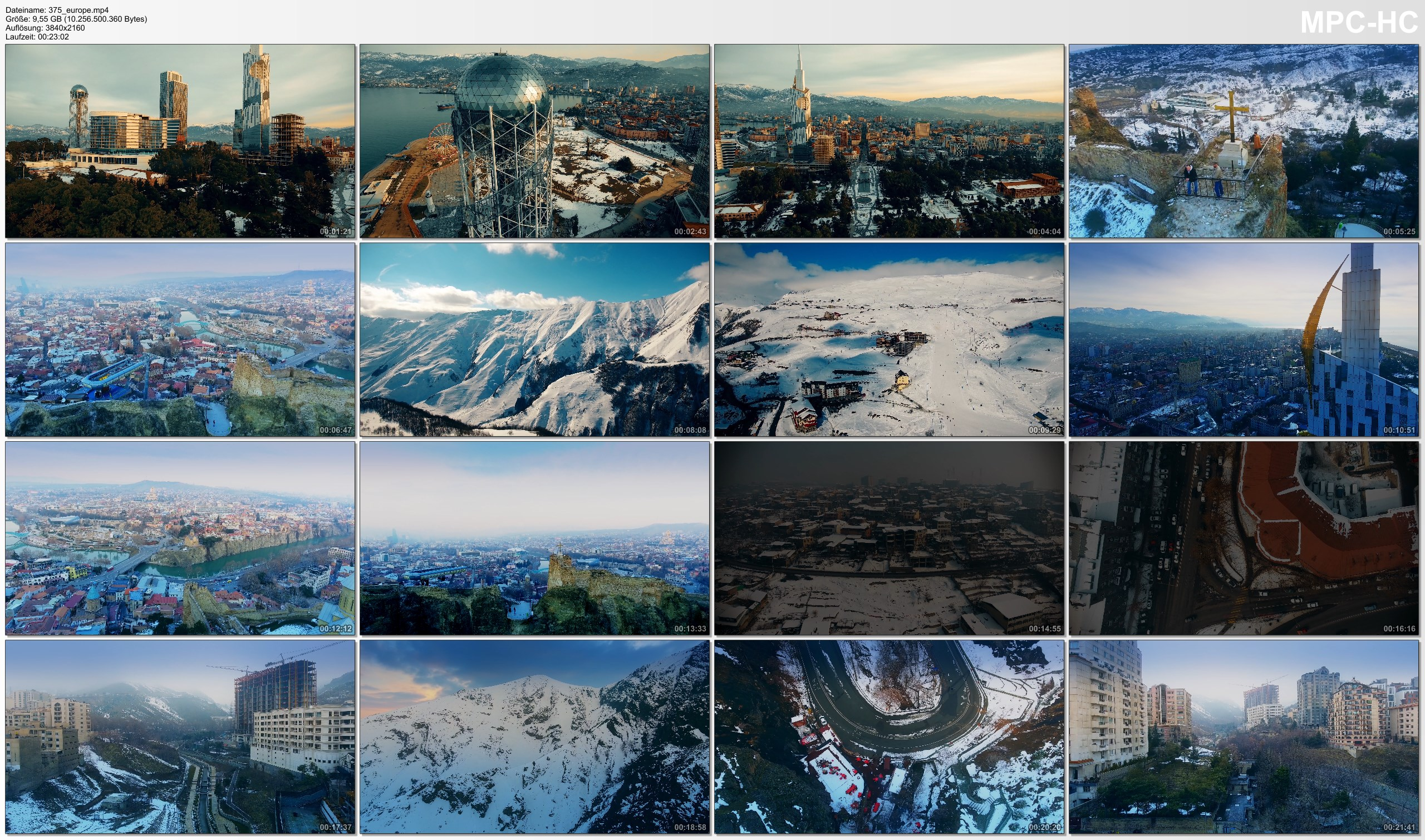 Drone Pictures from Video 【4K】Drone Footage | The Beauty of The Caucasus *EXTENDED* 24 Minutes 2019 | Cinematic Aerial Film