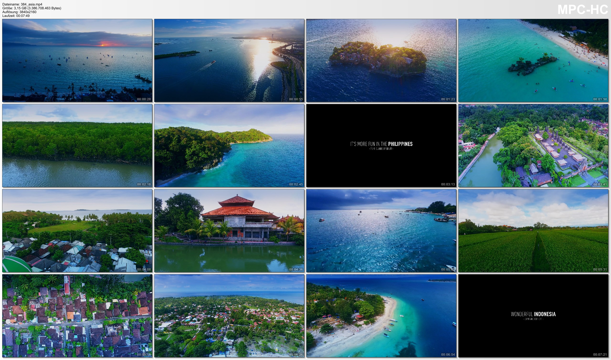 Drone Pictures from Video 【4K】Drone Footage | Philippines X Indonesia 2019 ..:: Cinematic Aerial Film | Boracay vs Bali Lombok
