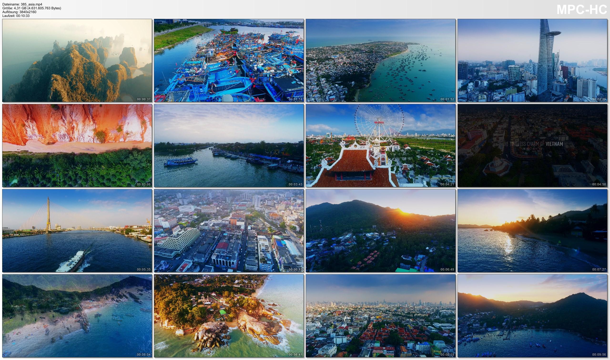 Drone Pictures from Video 【4K】Drone Footage | Thailand X Vietnam 2019 ..:: Cinematic Aerial | Bangkok Saigon Ko Samui Da Nang
