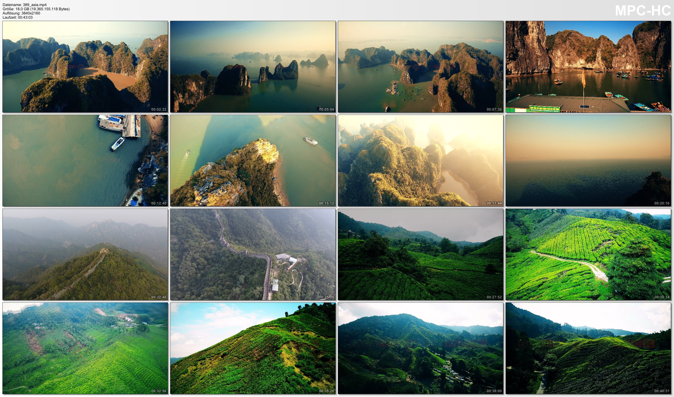 Drone Pictures from Video 【4K】Drone Footage | Natural Wonders of Earth *EXTENDED* 2019 Cinematic Aerial Halong Bay Great Wall