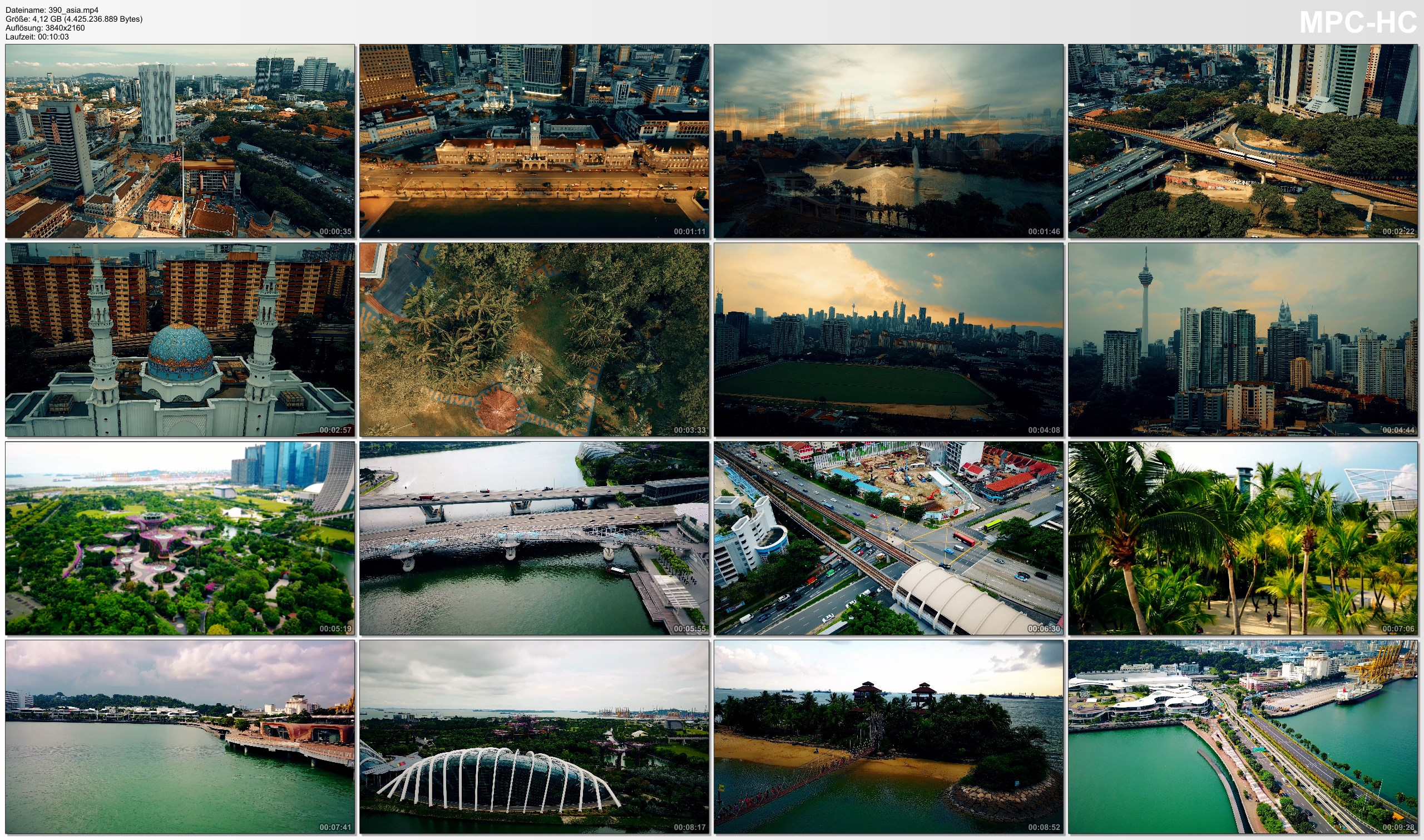 Drone Pictures from Video 【4K】Drone Footage | KUALA LUMPUR X SINGAPORE | Southeast Asia 2019 ..:: Cinematic Aerial Film