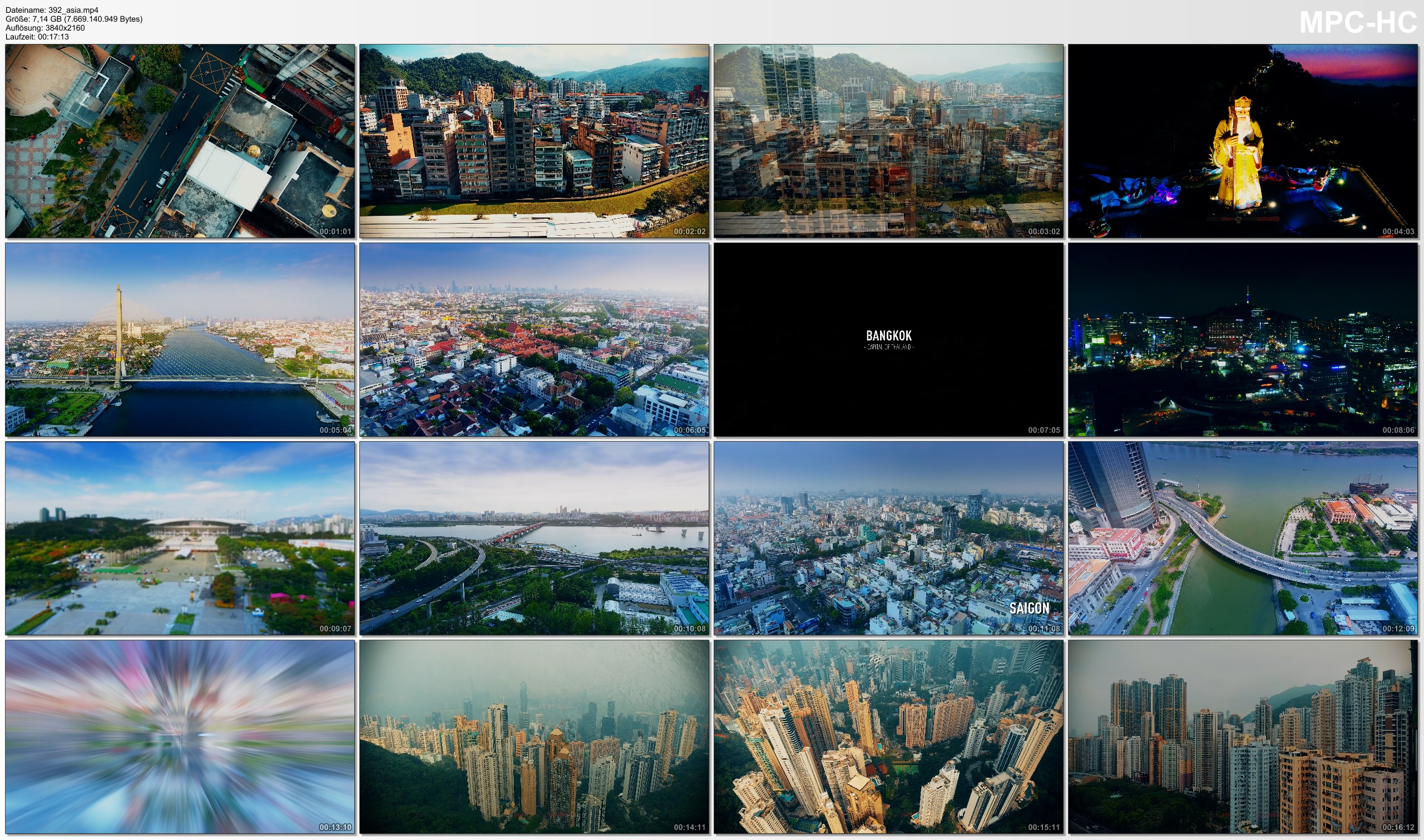Drone Pictures from Video 【4K】Drone Footage | ASIAN MEGACITIES 2019 | Taipei X Bangkok X Seoul X Ho Chi Minh City X Hong Kong