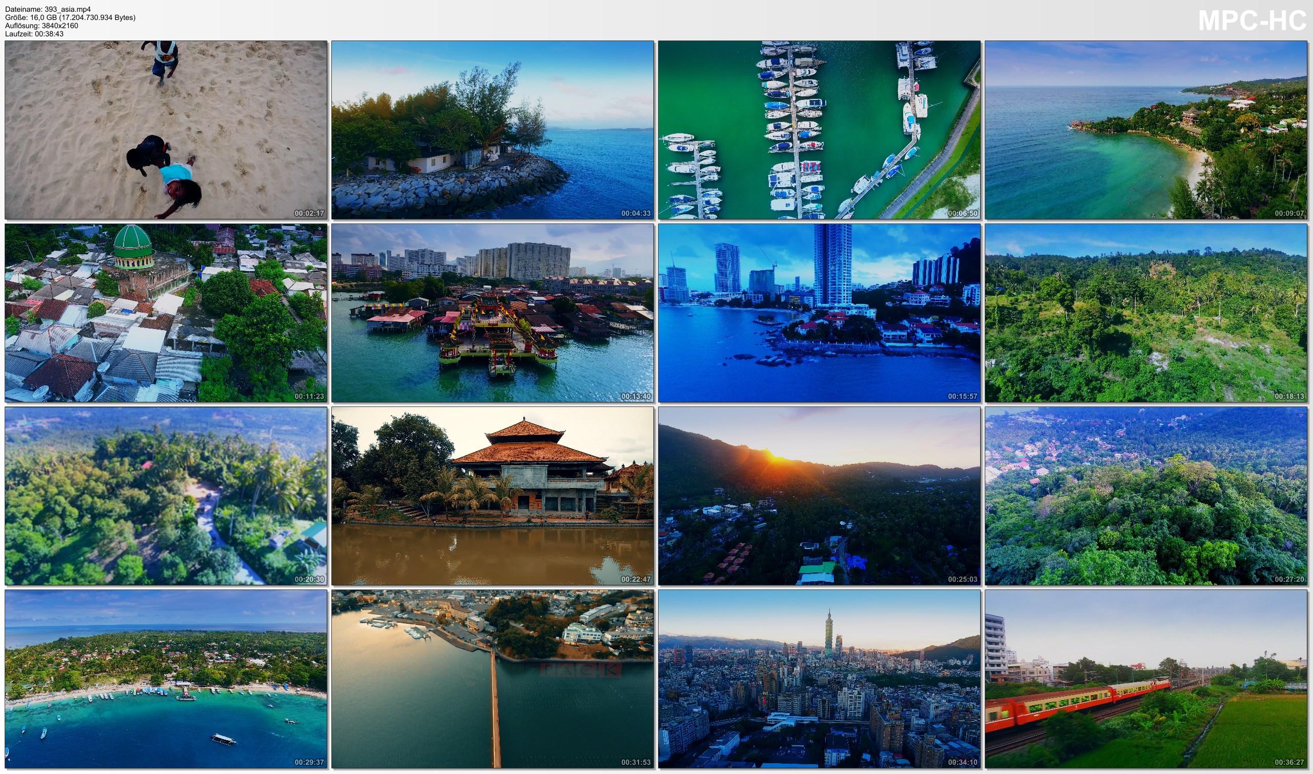 Drone Pictures from Video 【4K】Drone Footage | ASIAs ISLANDS 2019 | Boracay Langkawi Ko Phangan Lombok Penang Bali Gili Taiwan