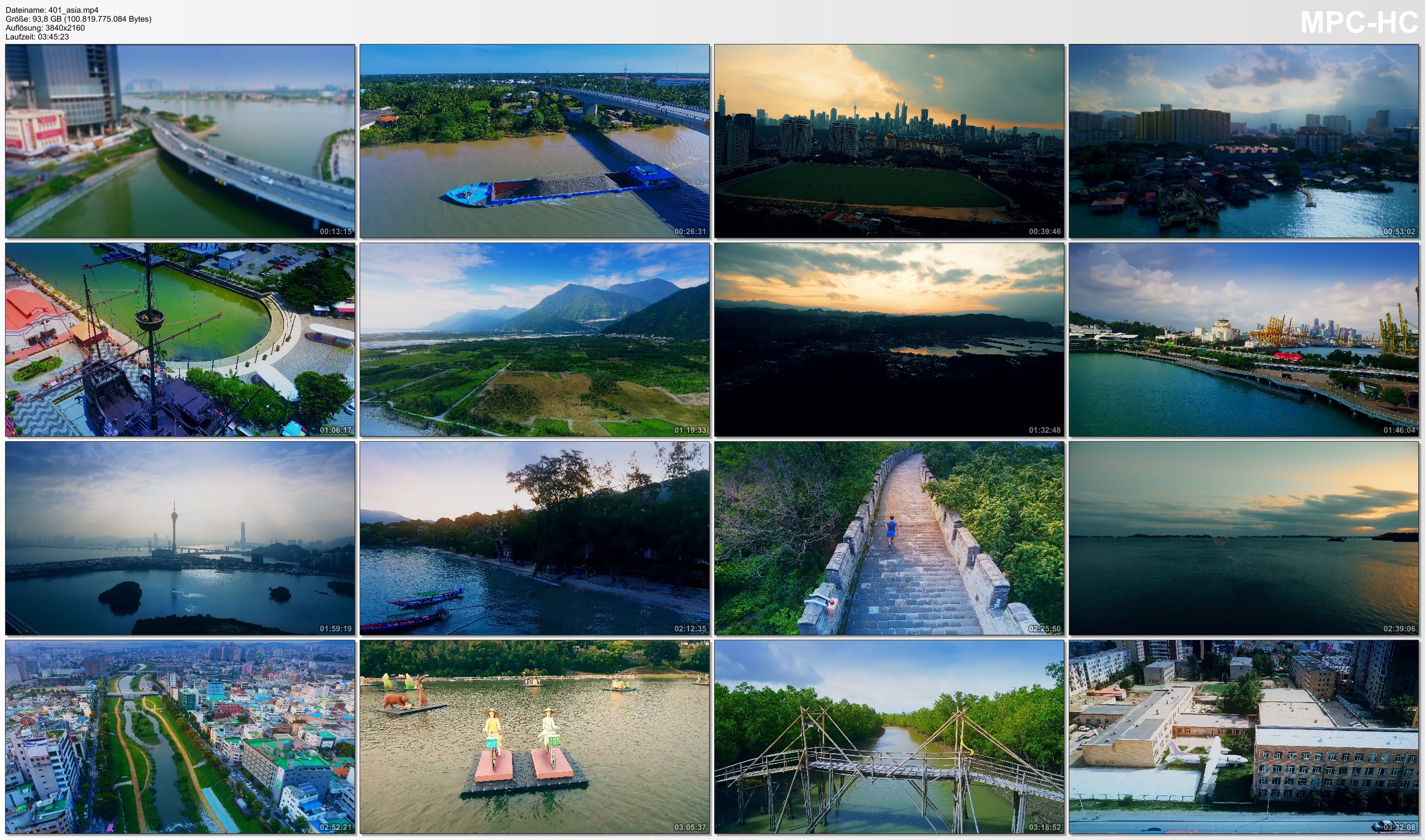Drone Pictures from Video 【4K】ASIA as you have never seen before 2019 | 3 ¾ Cinematic Hours Aerial Film