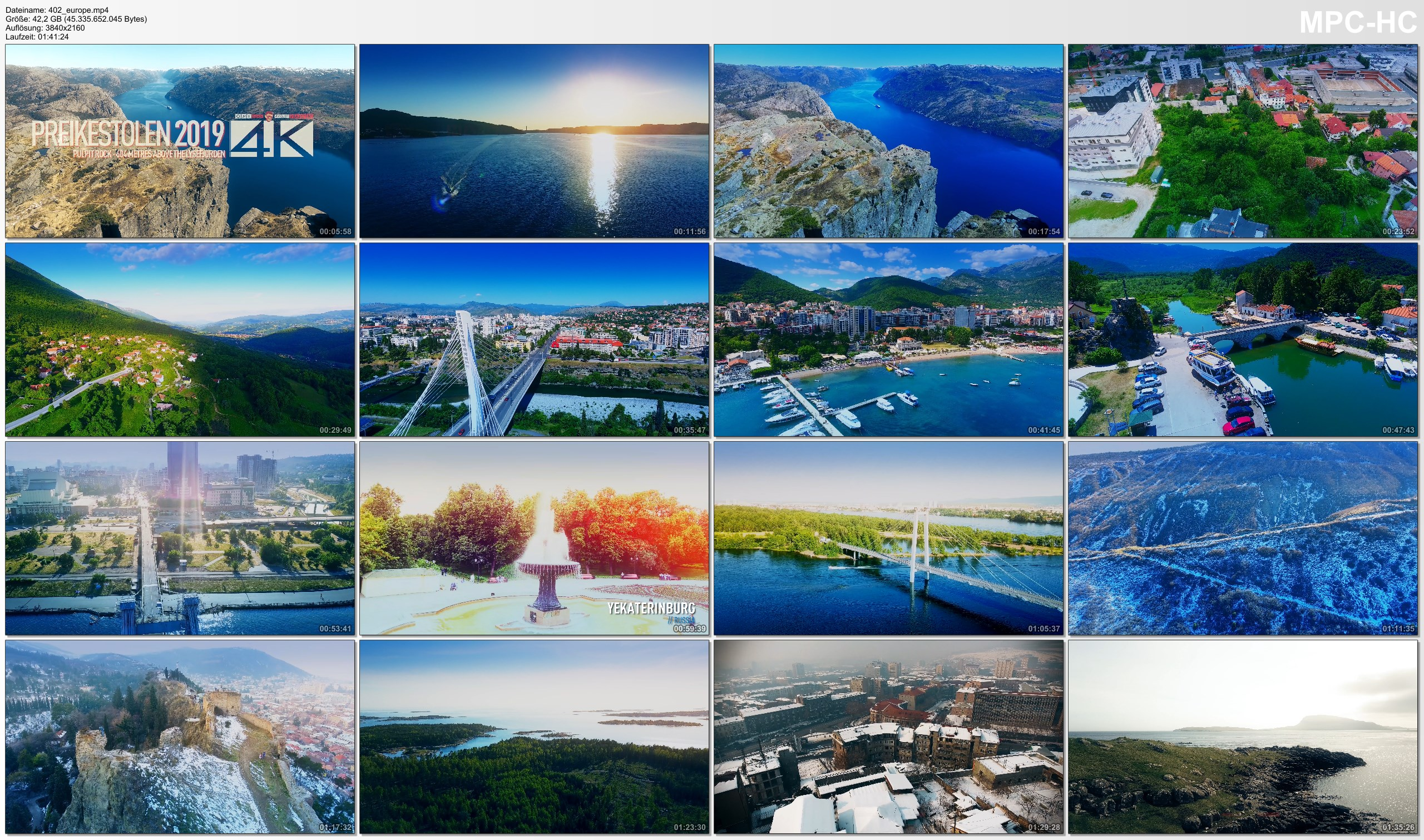 Drone Pictures from Video 【4K】EUROPE as you have never seen before 2019   101 Cinematic Minutes Aerial Film