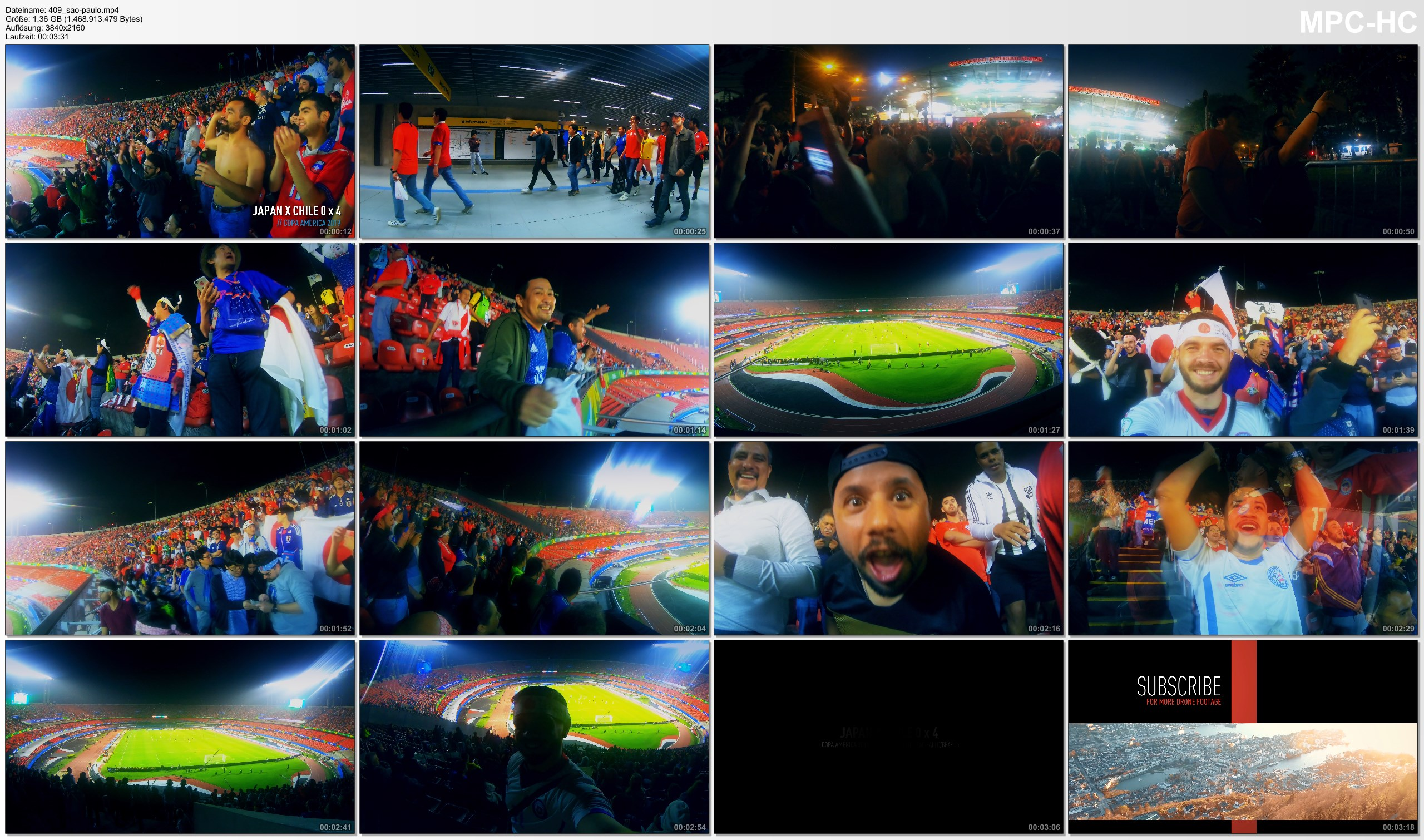 Pictures from Video 【4K】Groundhopping | Japan X Chile [0 x 4] 2019-06-17 | COPA AMERICA | Morumbi, Sao Paulo / Brazil