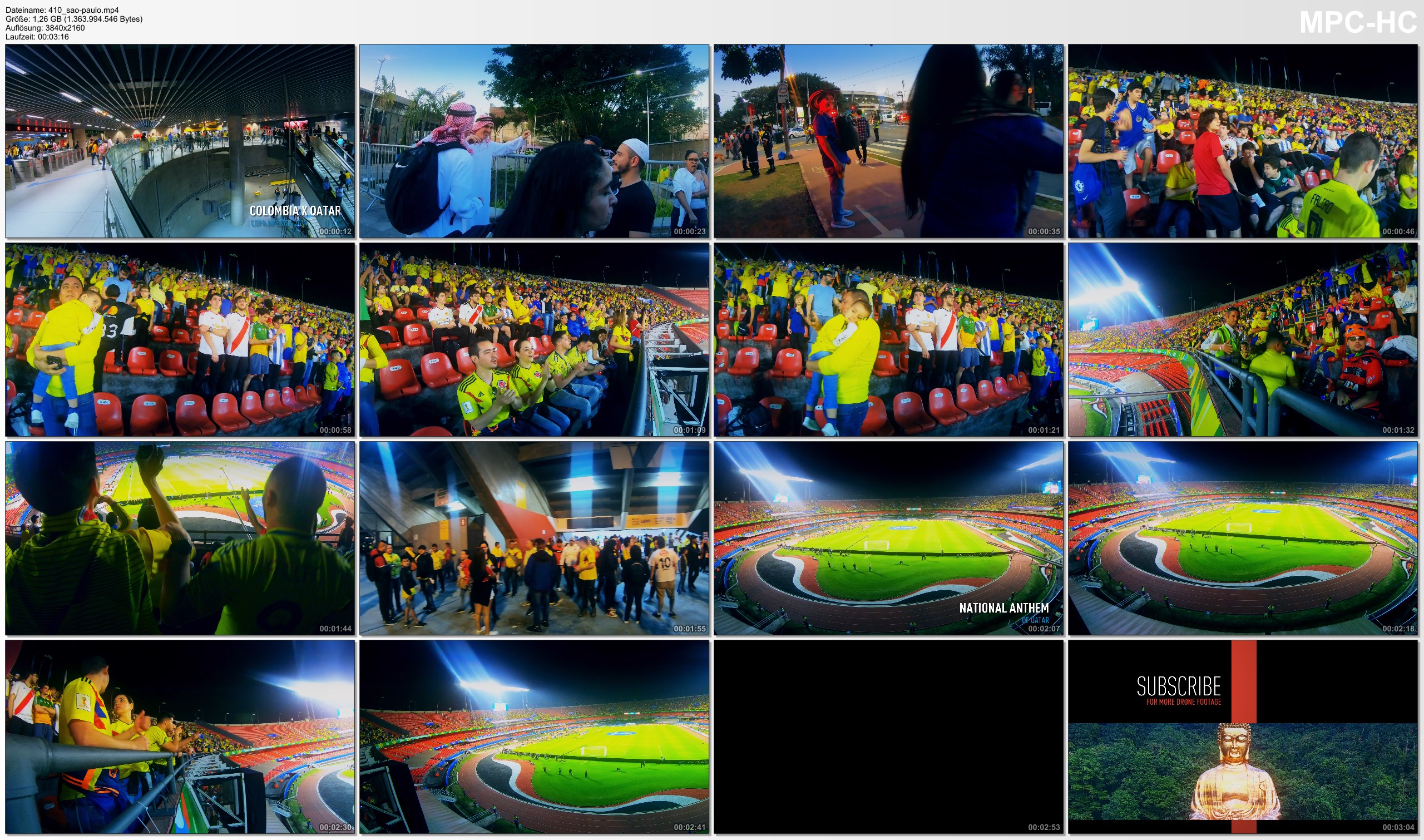 Pictures from Video 【4K】Groundhopping | Colombia X Qatar [1 x 0] 2019-06-19 | COPA AMERICA | Morumbi, Sao Paulo / Brazil