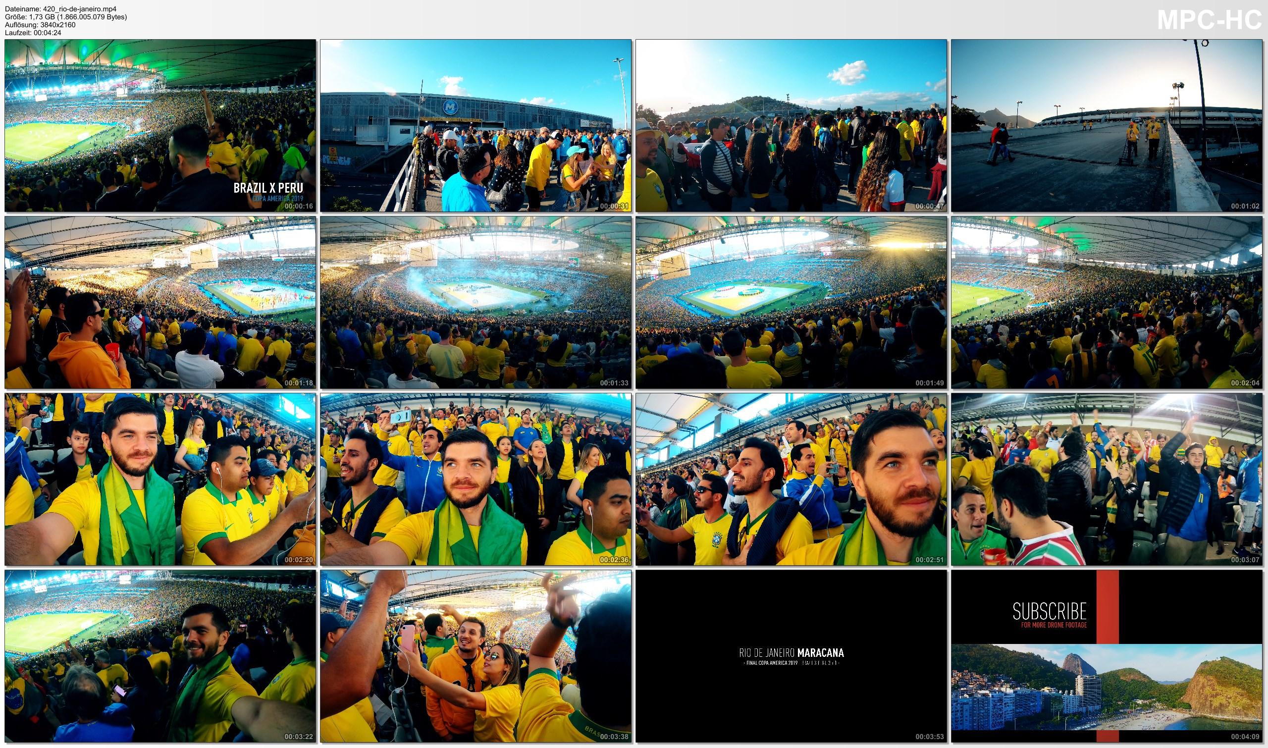 Pictures from Video 【4K】Groundhopping | Brazil X Peru [3 x 1] 2019-07-07 | COPA AMERICA Final | Maracana, Rio de Janeiro