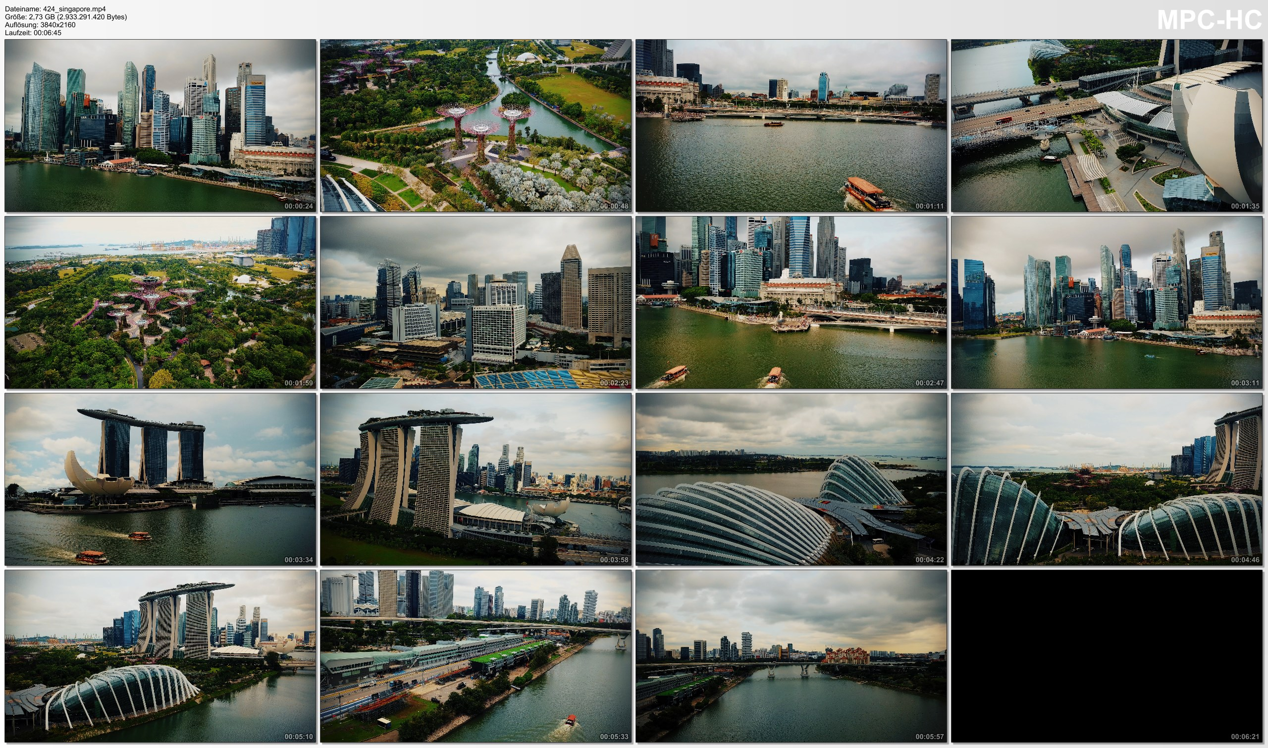 Drone Pictures from Video 【4K】Drone Footage | Marina Bay and Gardens by the Bay - SINGAPORE 2019 ..:: Cinematic Aerial Film