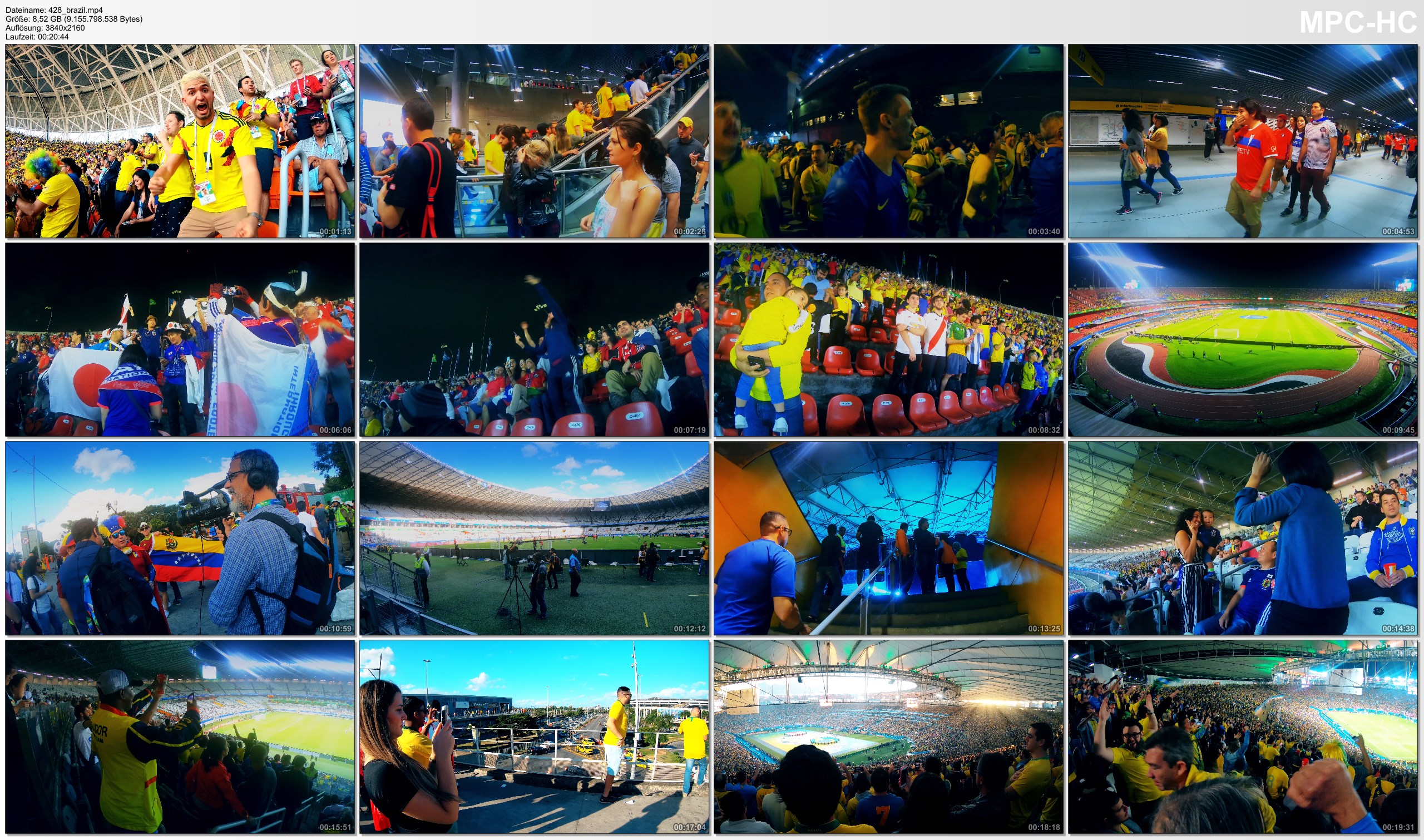 Pictures from Video 【4K】Groundhopping | That was the COPA AMERICA 2019 in BRAZIL | Visiting 6 Matches | Vai Brasil