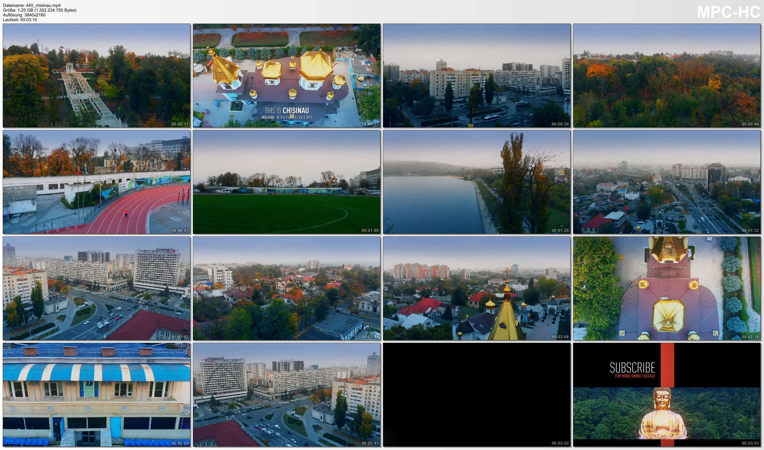 Drone Pictures from Video 【4K】Chisinau from Above - Capital of MOLDOVA 2020 | Cinematic Aerial Film
