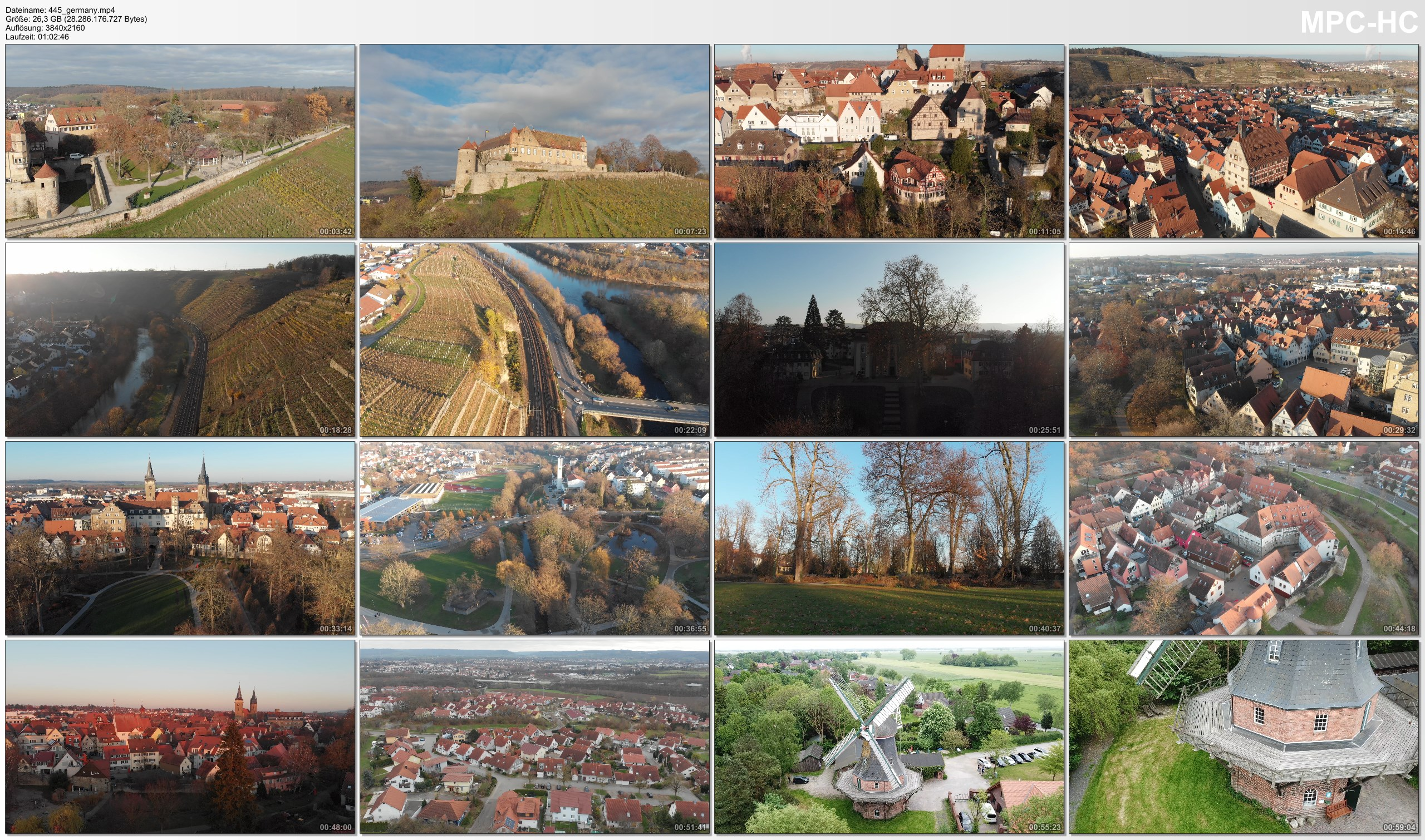 Drone Pictures from Video 【4K】Drone RAW Footage   This is GERMANY 2020   Baden-Wuerttemberg   Oehringen   UltraHD Stock Video