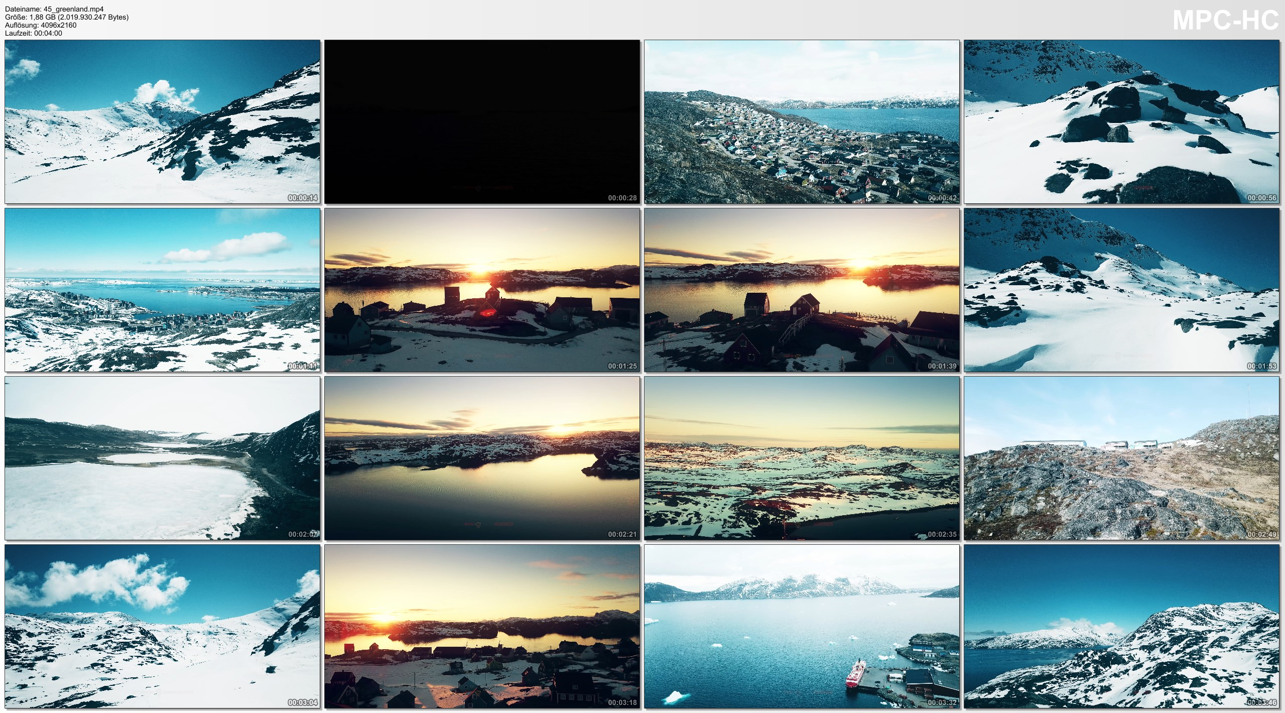 Drone Pictures from Video 【4K】Drone Footage GREENLAND [DJI Mavic Pro]