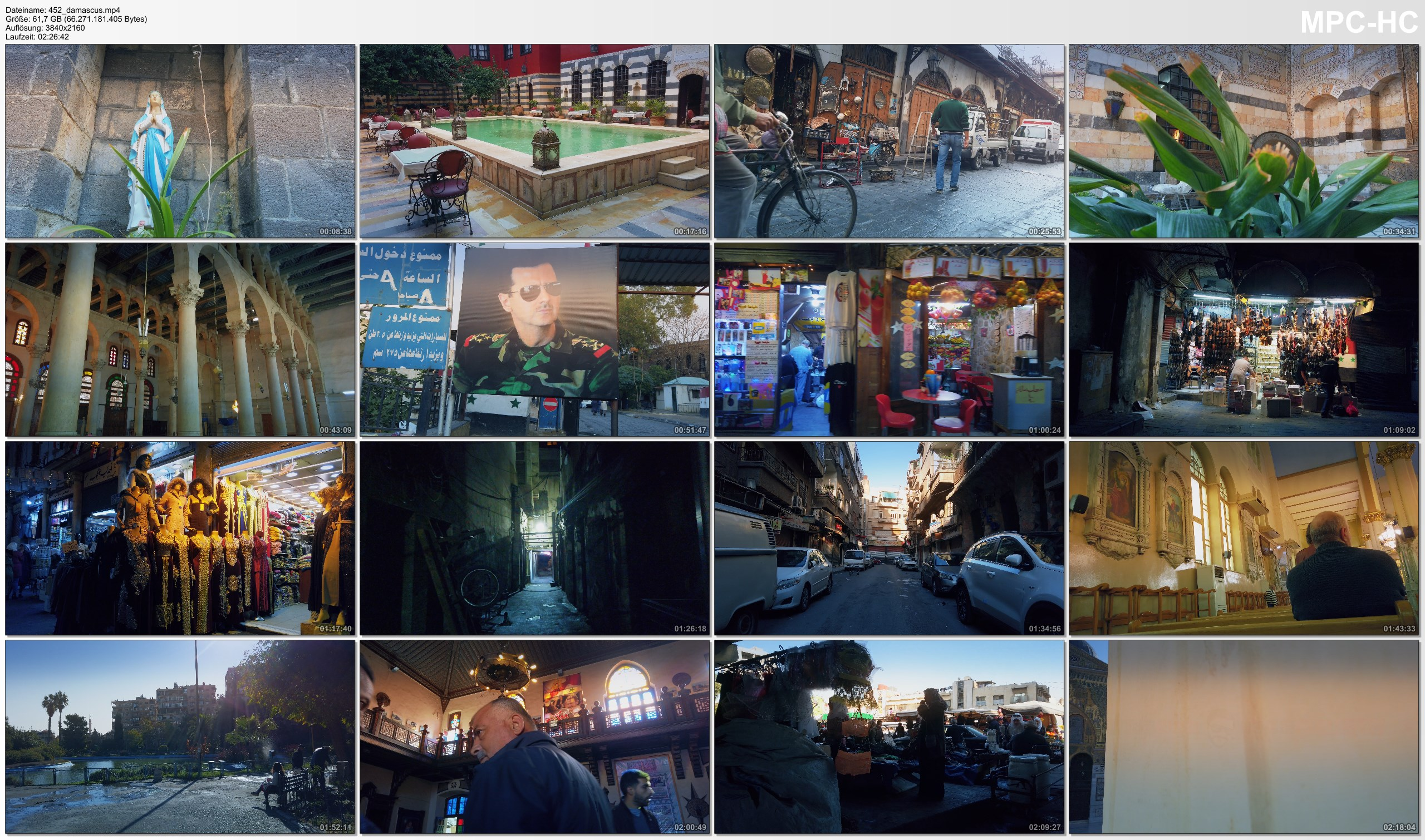 Pictures from Video 【4K】Footage | Walking Through Damascus - SYRIA 2020 | Capital City Tour Guide | Street Scenes UNCUT