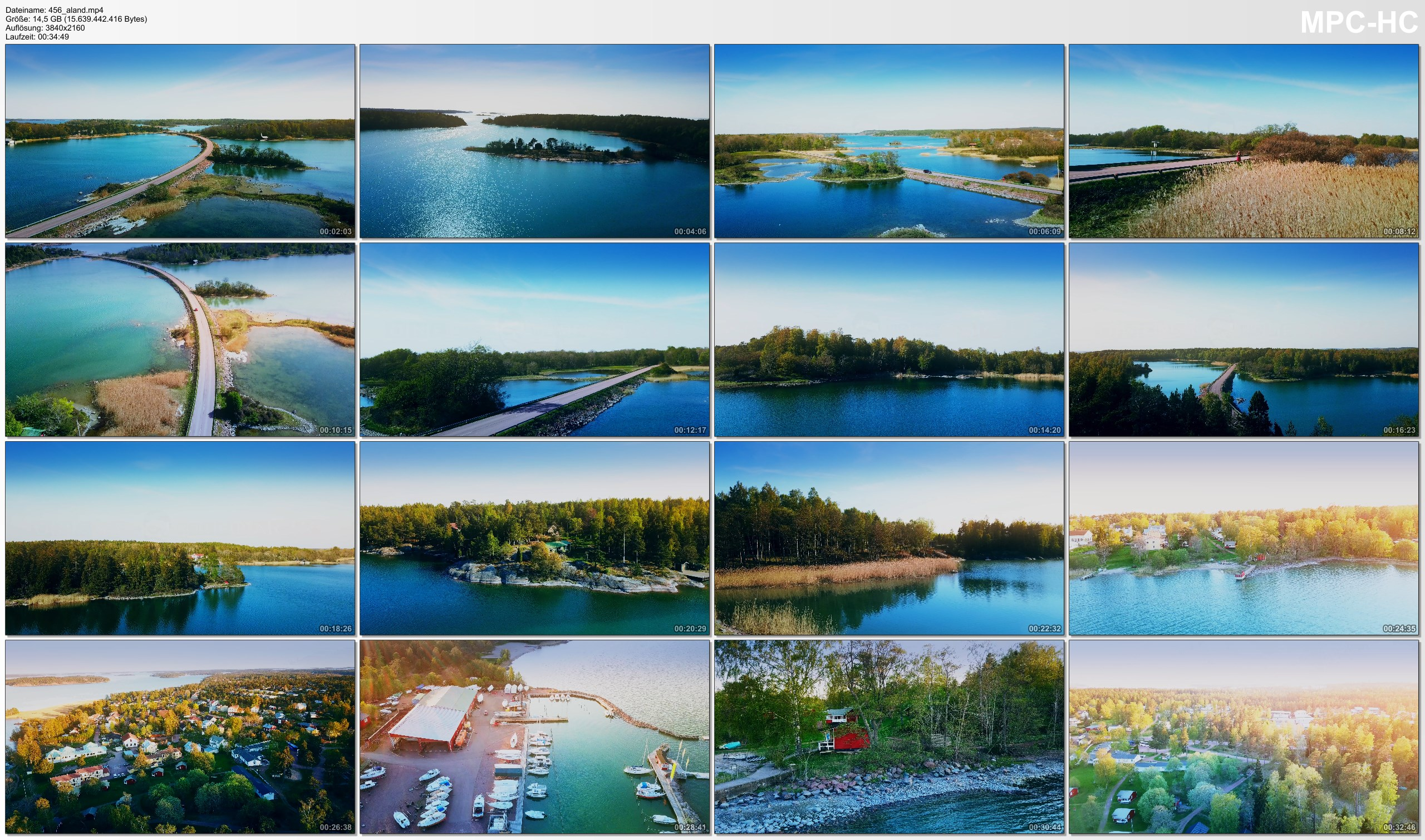 Drone Pictures from Video 【4K】Drone RAW Footage | These are the ALAND ISLANDS 2020 | Mariehamn And More | UltraHD Stock Video